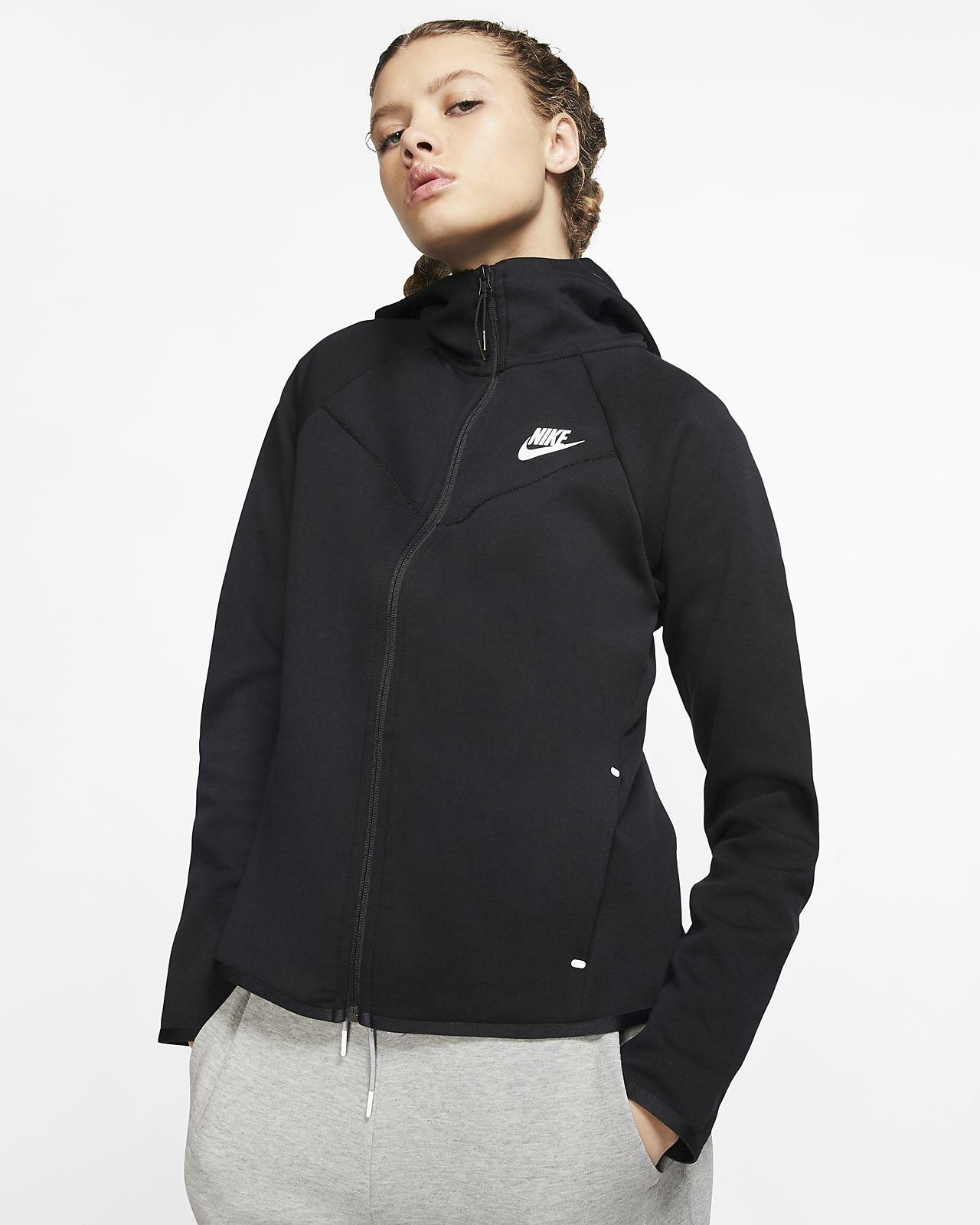 Nike Sportswear Tech Fleece Windrunner Hoodie Jacke Jungen Kinder Schwarz | eBay