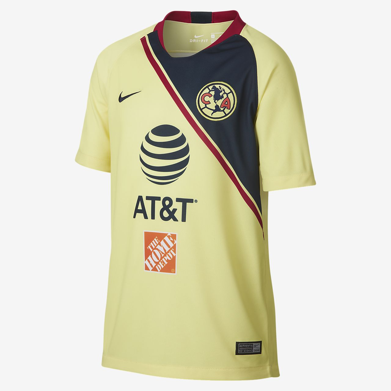 2018 19 Club America Stadium Home Big Kids  Soccer Jersey. Nike.com 6df8e6f0e