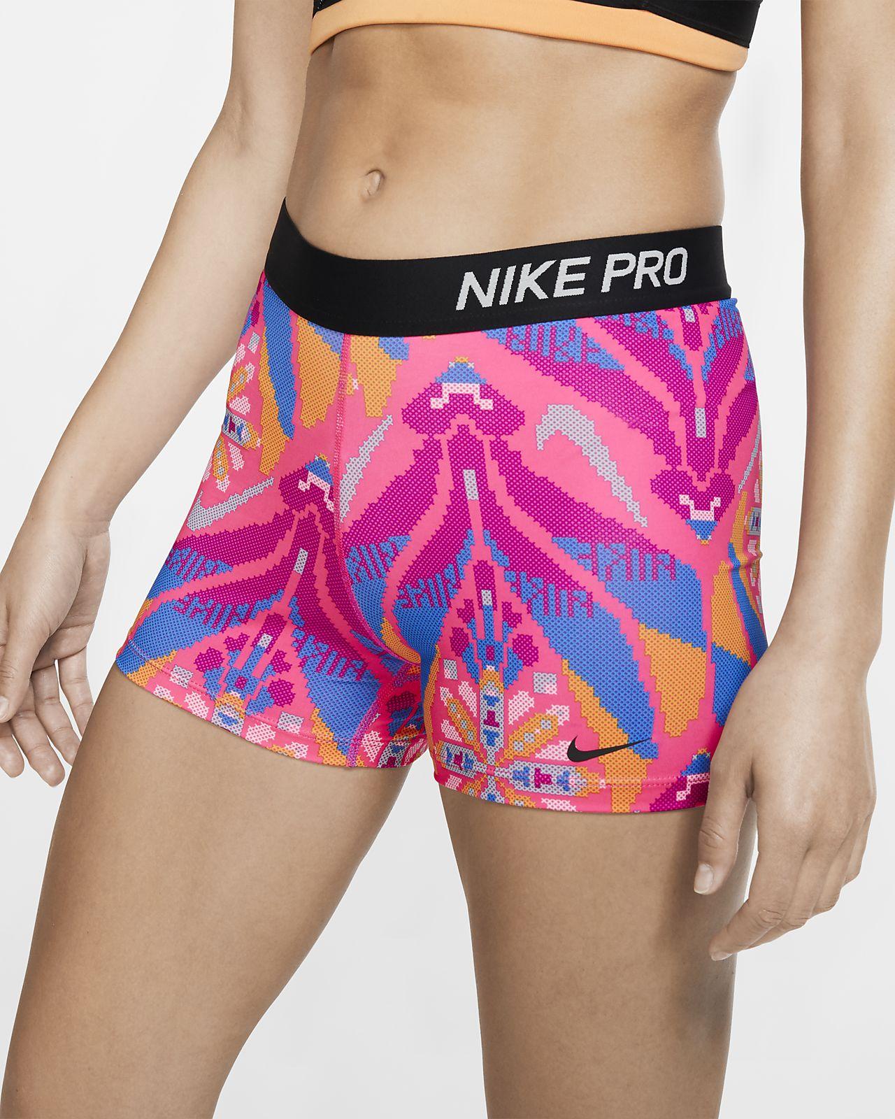 Nike Pro Damesshorts met print (7,5 cm)