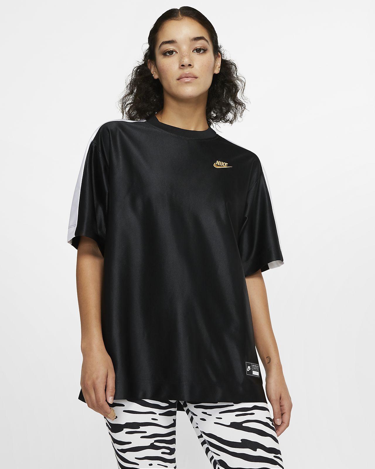 Kortærmet Nike Sportswear Icon Clash-top til kvinder