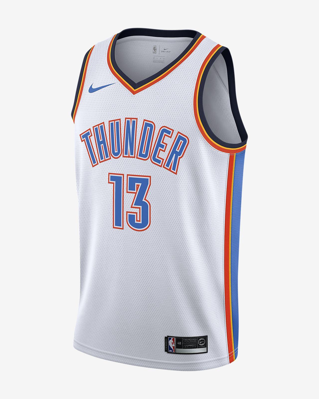 Camiseta conectada para hombre Nike NBA Paul George Association Edition Swingman (Oklahoma City Thunder)
