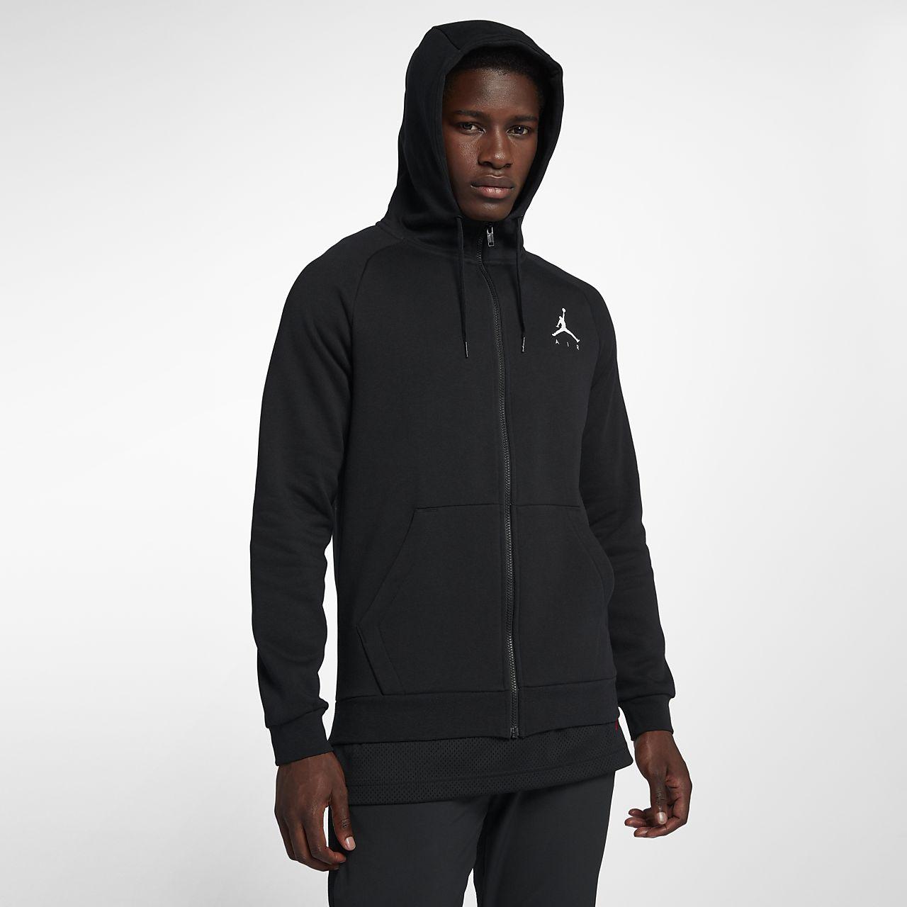 Hoodie de lã cardada com fecho completo Jordan Jumpman para homem