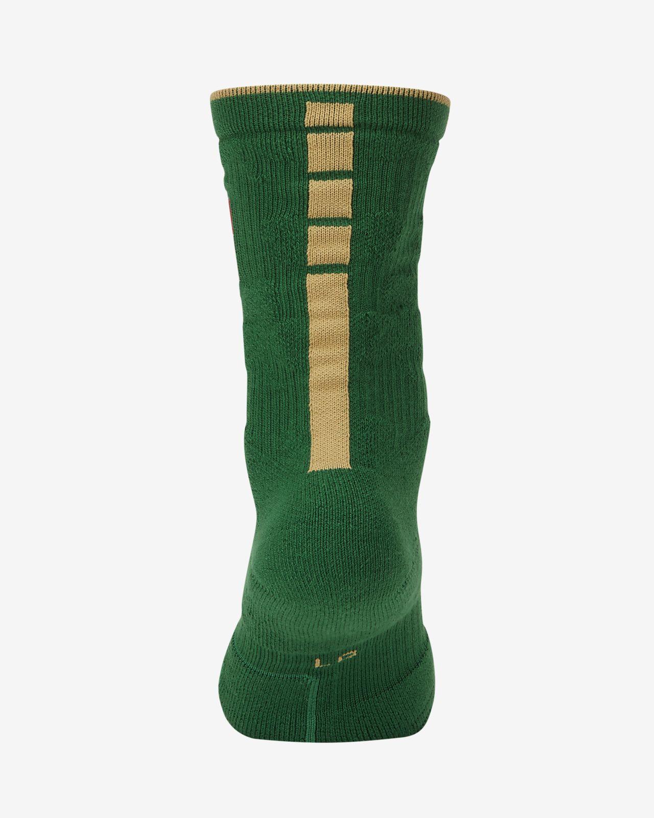 Boston Celtics City Edition Nike Elite NBA Crew Socks