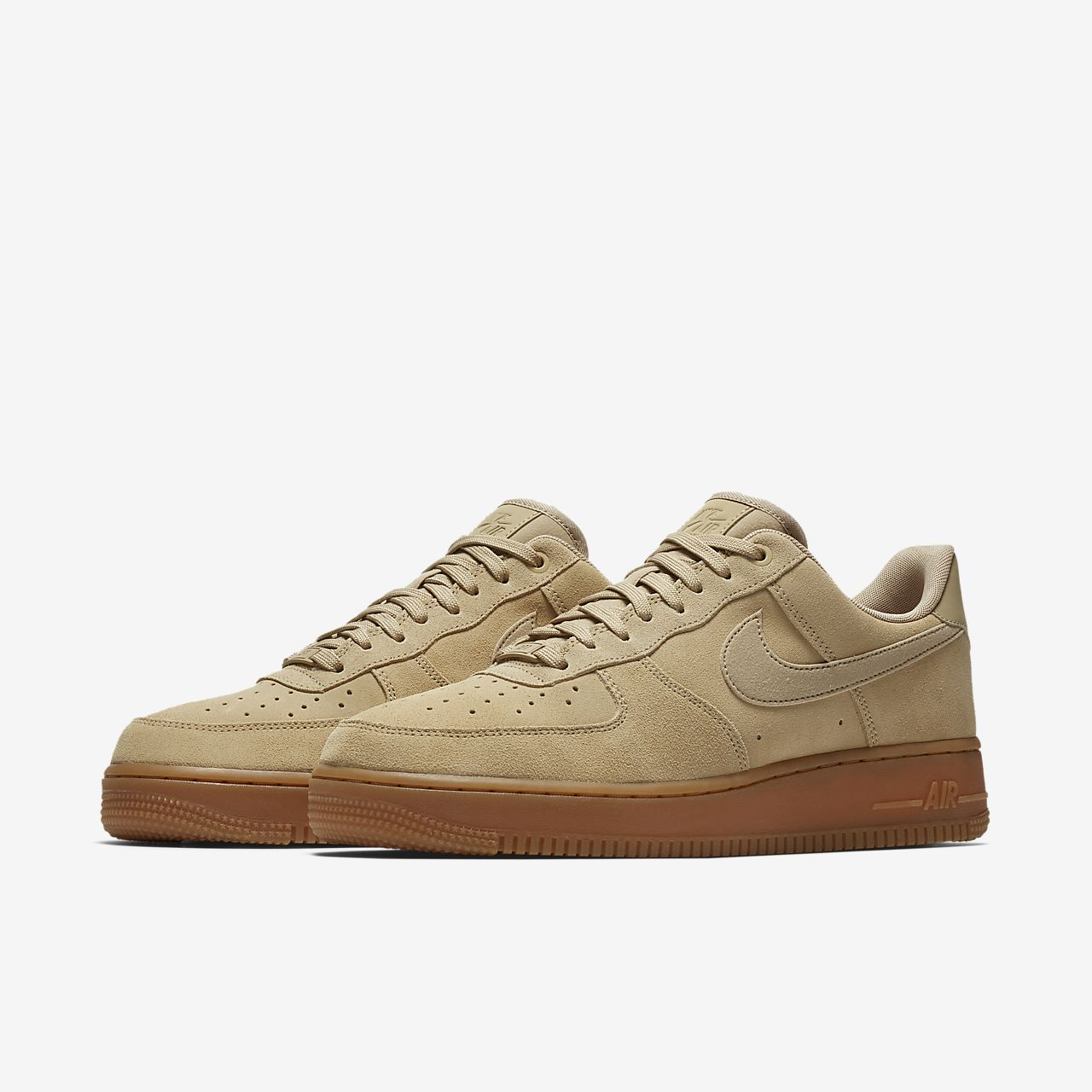 nike air force 1 suede tan