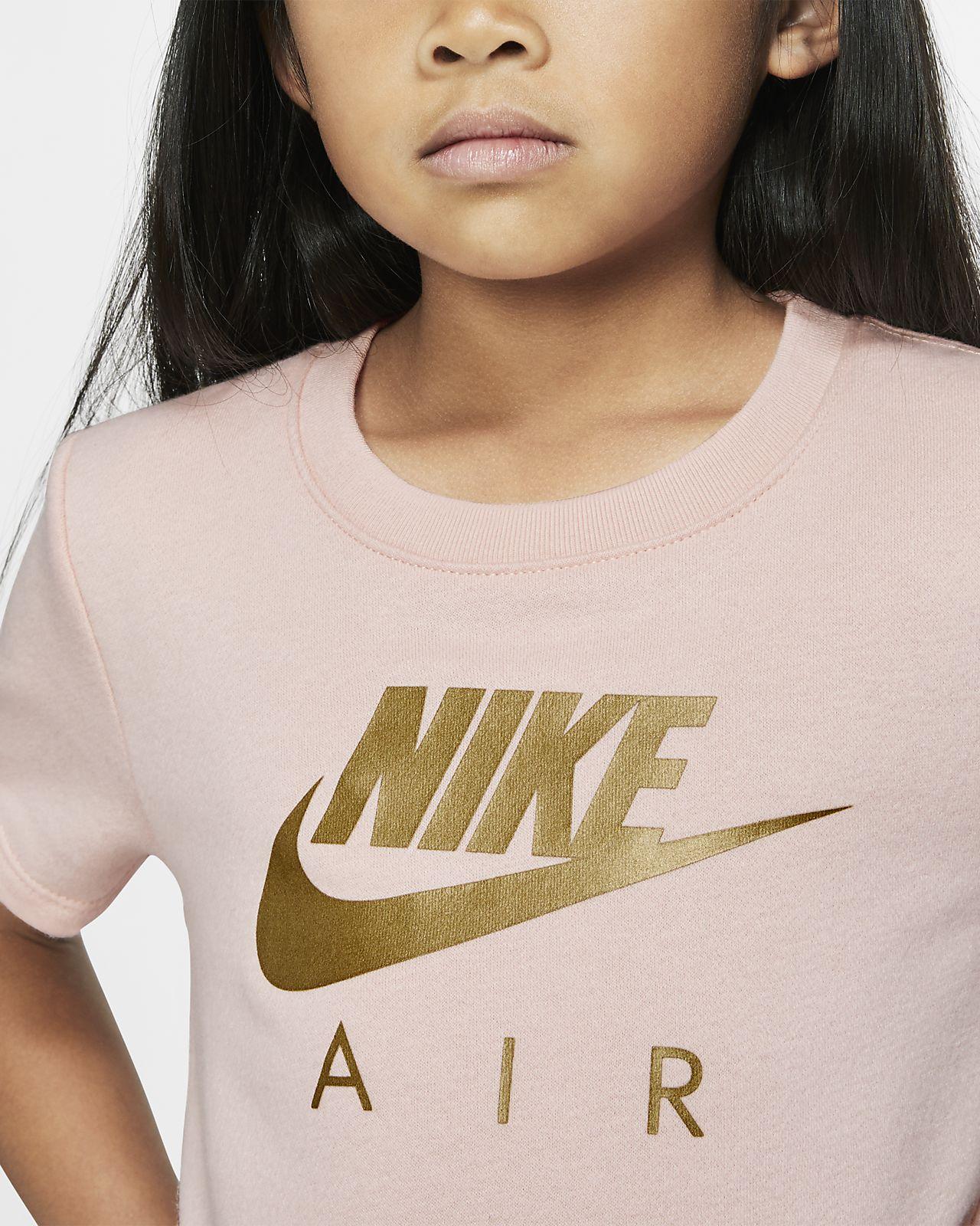 Nike Sportswear Air Kurzarm Fleece Kleid für jüngere Kinder