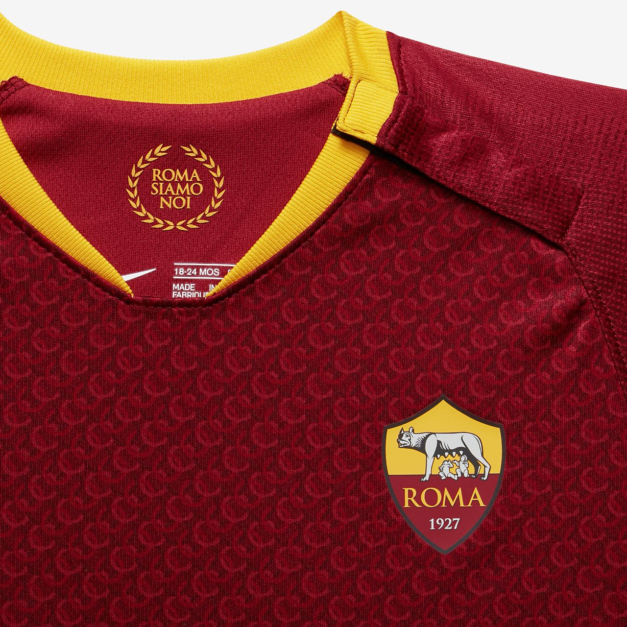 32c3ba1a2a4 2018 19 A.S. Roma Stadium Home Baby Football Kit. Nike.com CA