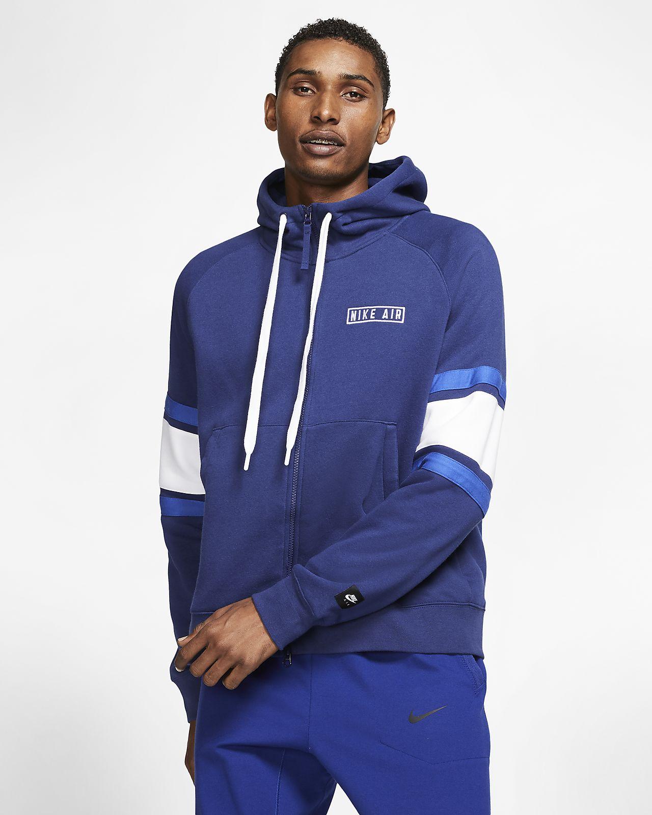Sudadera con capucha de tejido Fleece y cierre completo para hombre Nike Air