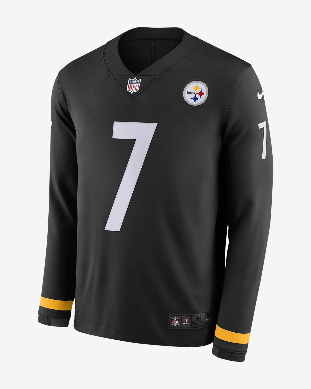 54d995a028e ... NFL Pittsburgh Steelers Jersey (Ben Roethlisberger) Men's Long-Sleeve  Football Jersey