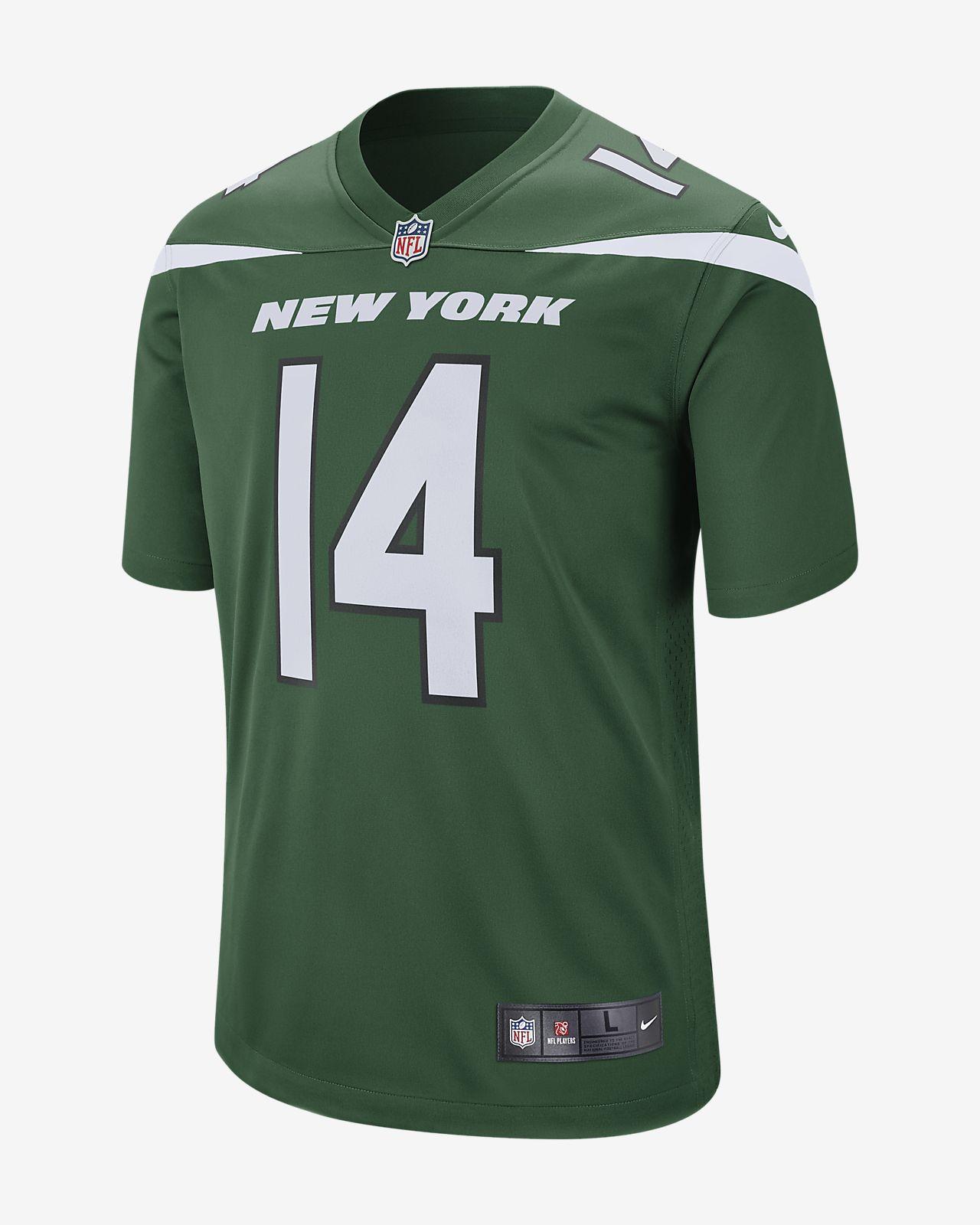 Мужское игровое джерси для американского футбола NFL New York Jets (Sam Darnold)