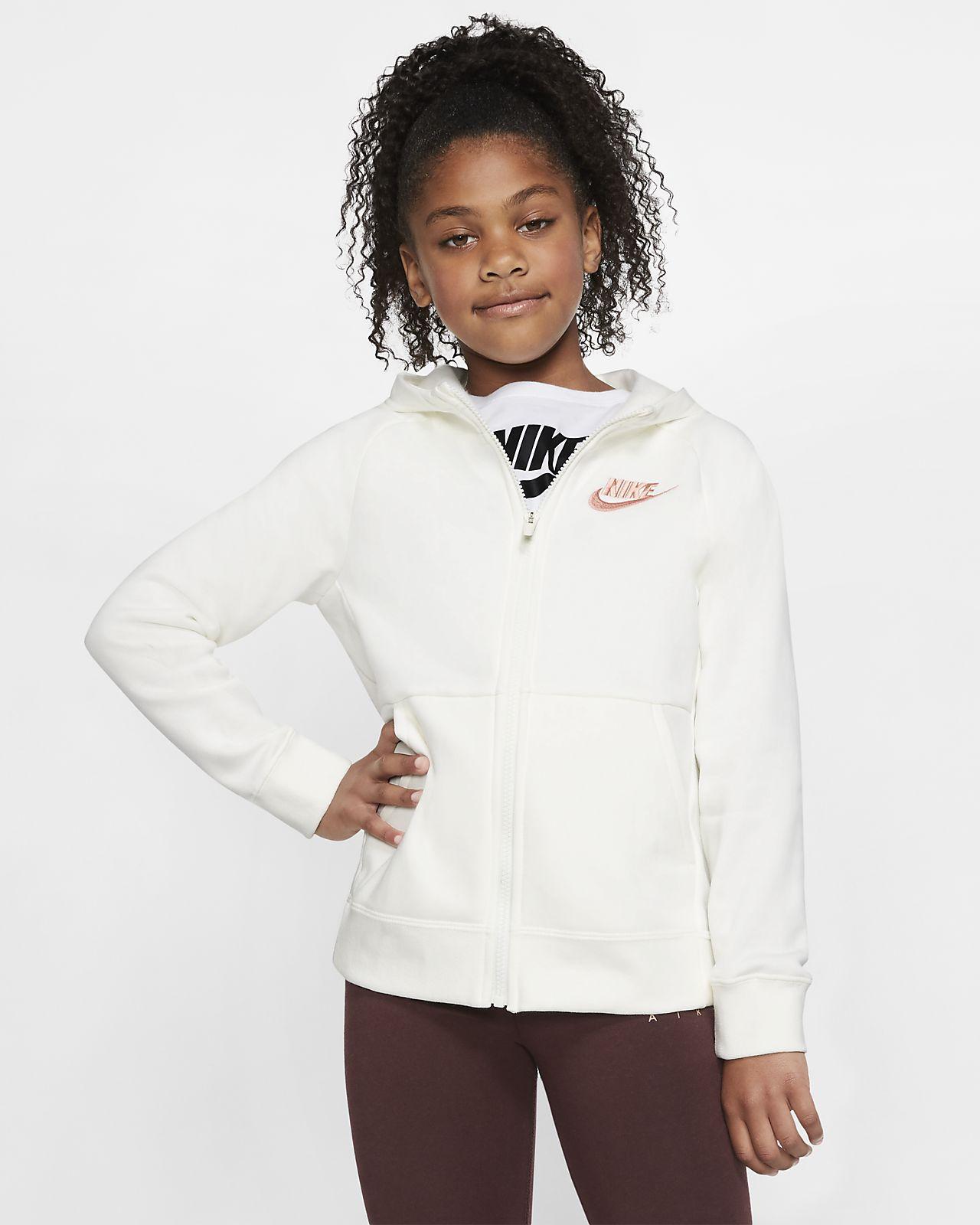 Sudadera con capucha de cierre completo para niña Nike Sportswear