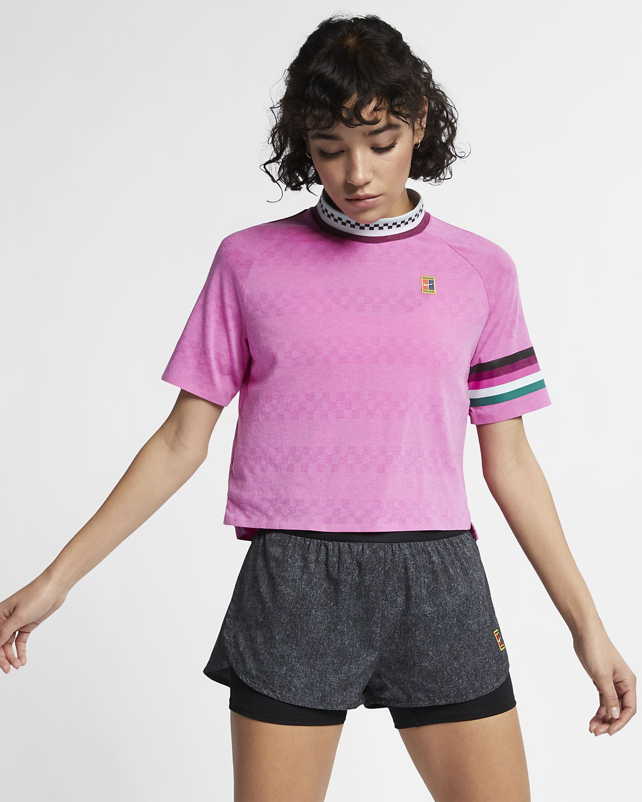 Haut de tennis à manches courtes NikeCourt Breathe Slam pour Femme