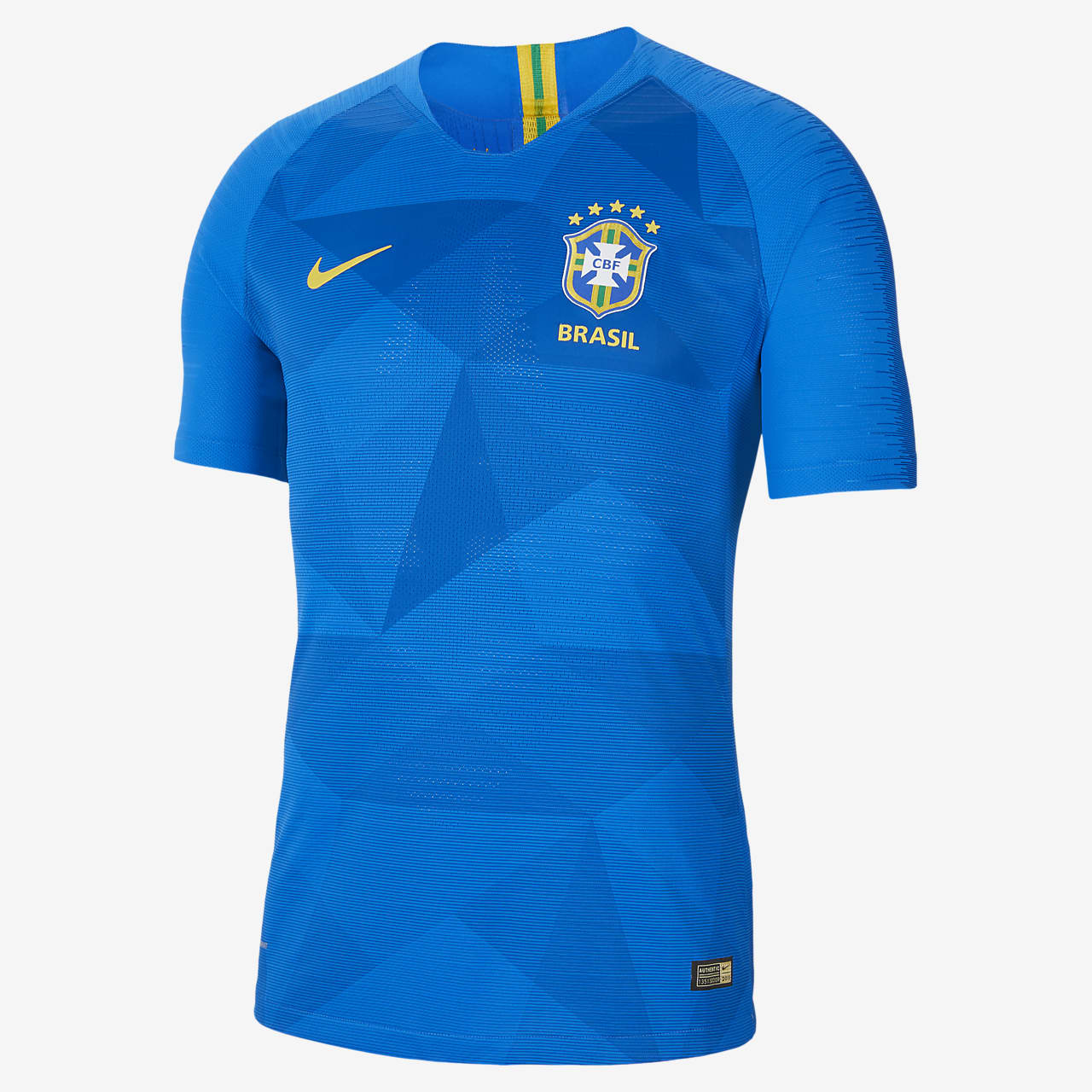 Camiseta de fútbol para hombre 2018 Brasil CBF Vapor Match Away