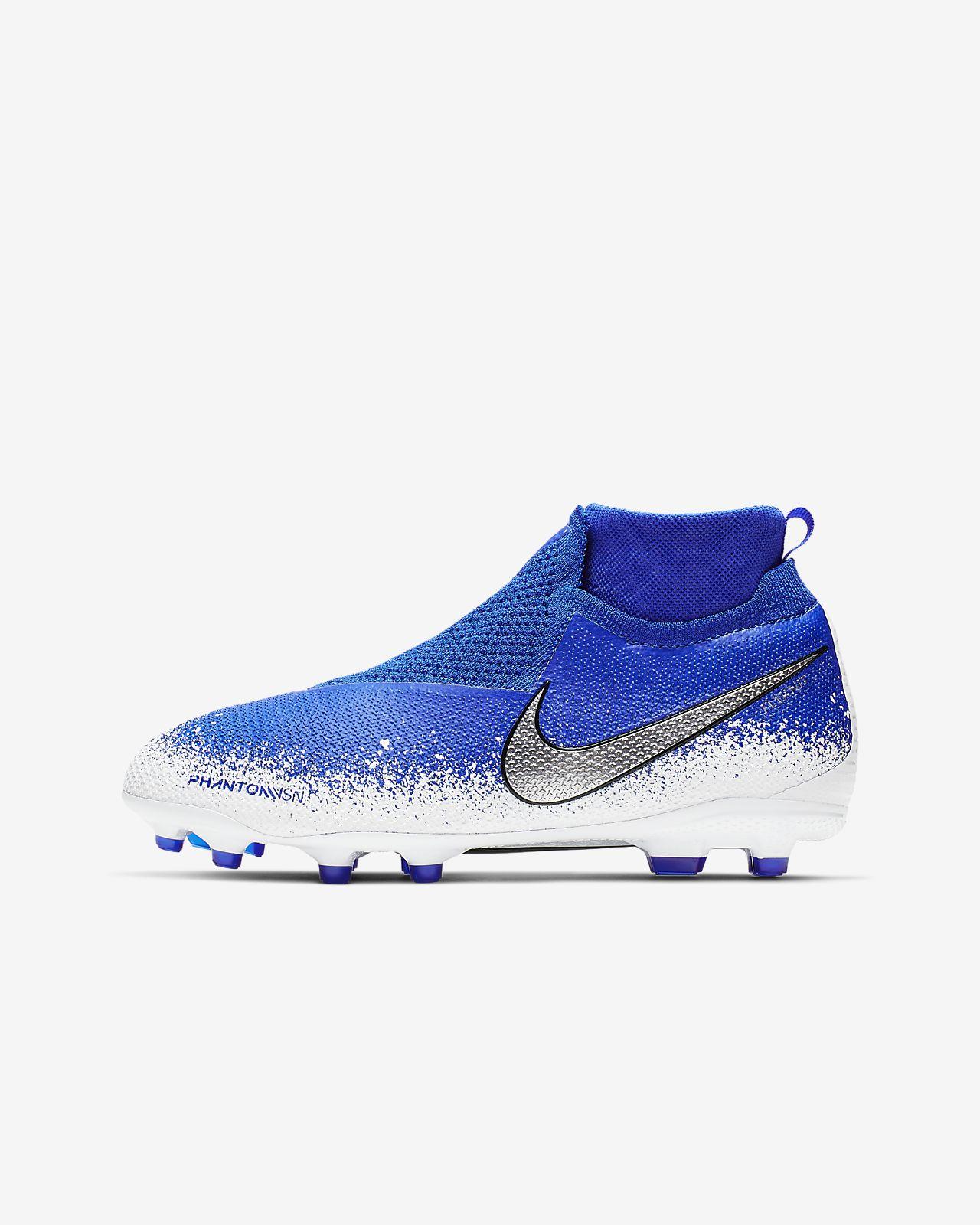 Nike Jr. Phantom Vision Elite Dynamic Fit MG-fodboldstøvle til flere typer underlag til store børn