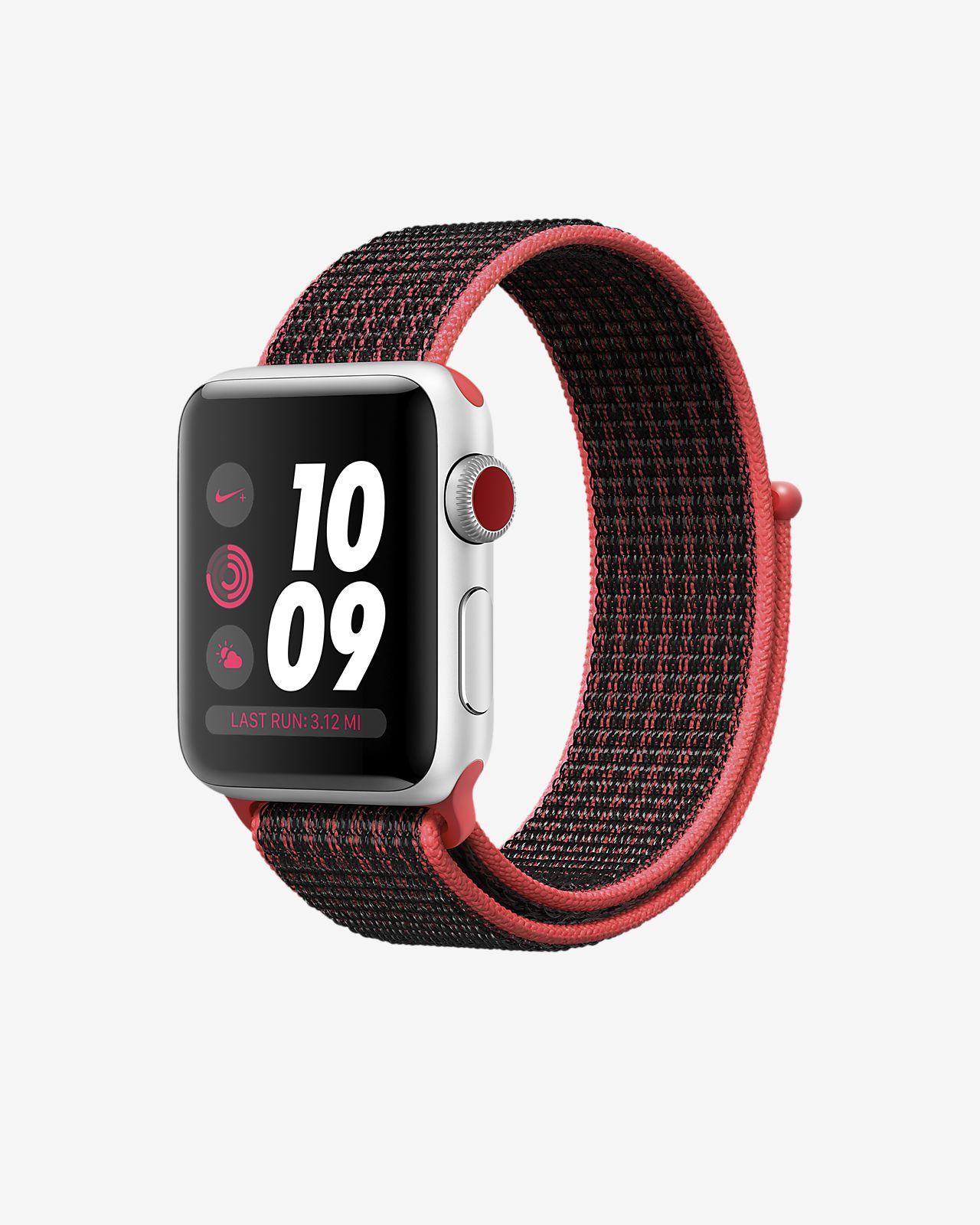 70c83633b40c Apple Watch Nike+ Series 3 (GPS + Cellular) 38mm Running Watch. Nike.com