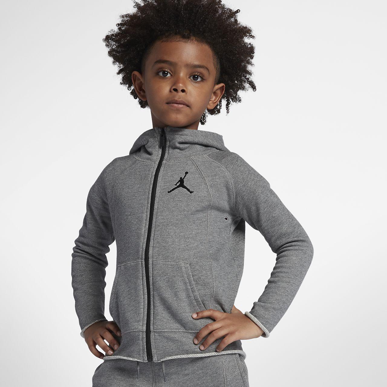 ac1775a8d Jordan Sportswear Wings Younger Kids' (Boys') Full-Zip Hoodie. Nike ...