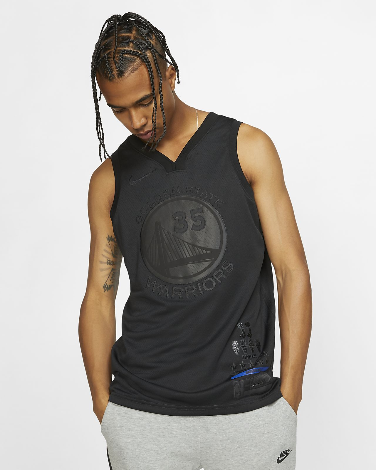 Camiseta conectada Nike NBA para hombre Kevin Durant MVP Swingman (Golden State Warriors)