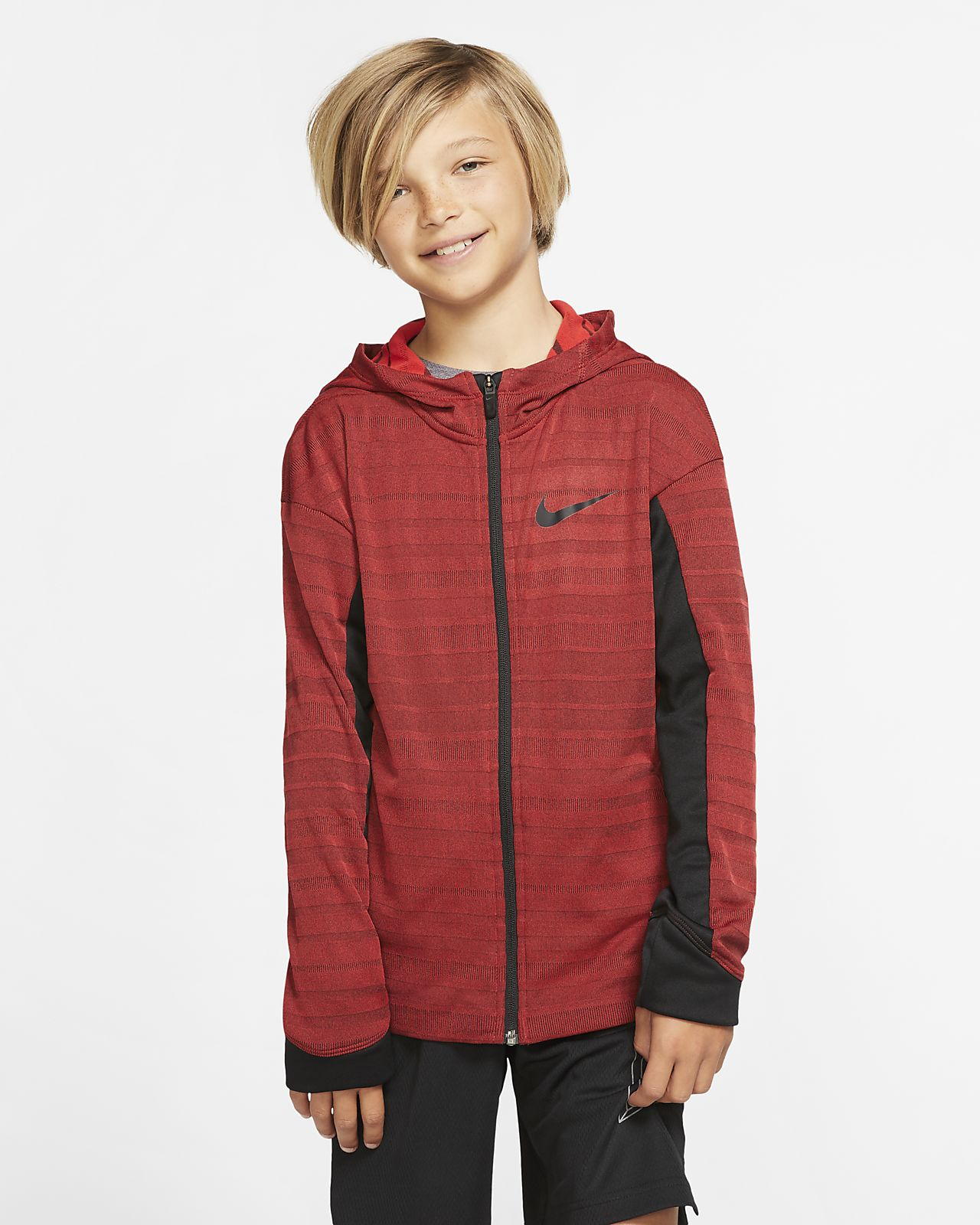 Nike Boys' Full-Zip Training Hoodie
