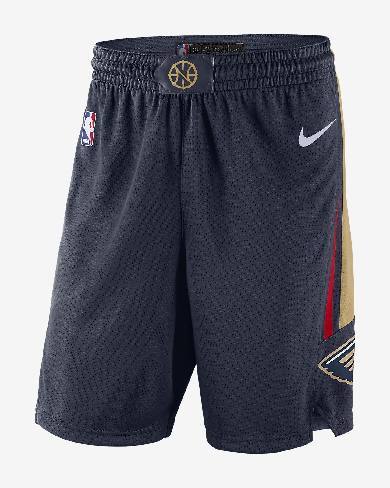 Shorts de la NBA para hombre New Orleans Pelicans Icon Edition Swingman