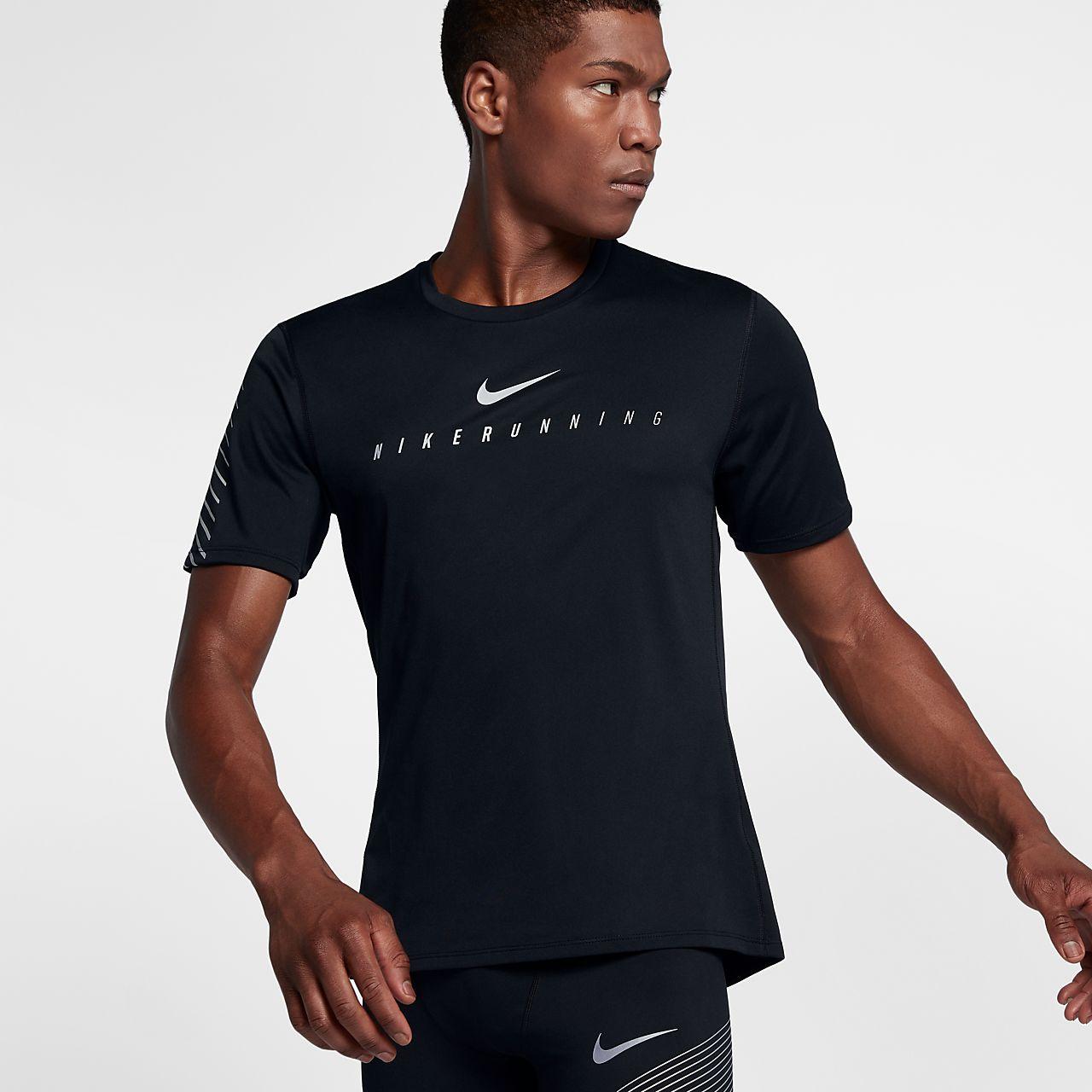 ... Haut de running réfléchissant à manches courtes Nike Miler Flash pour  Homme