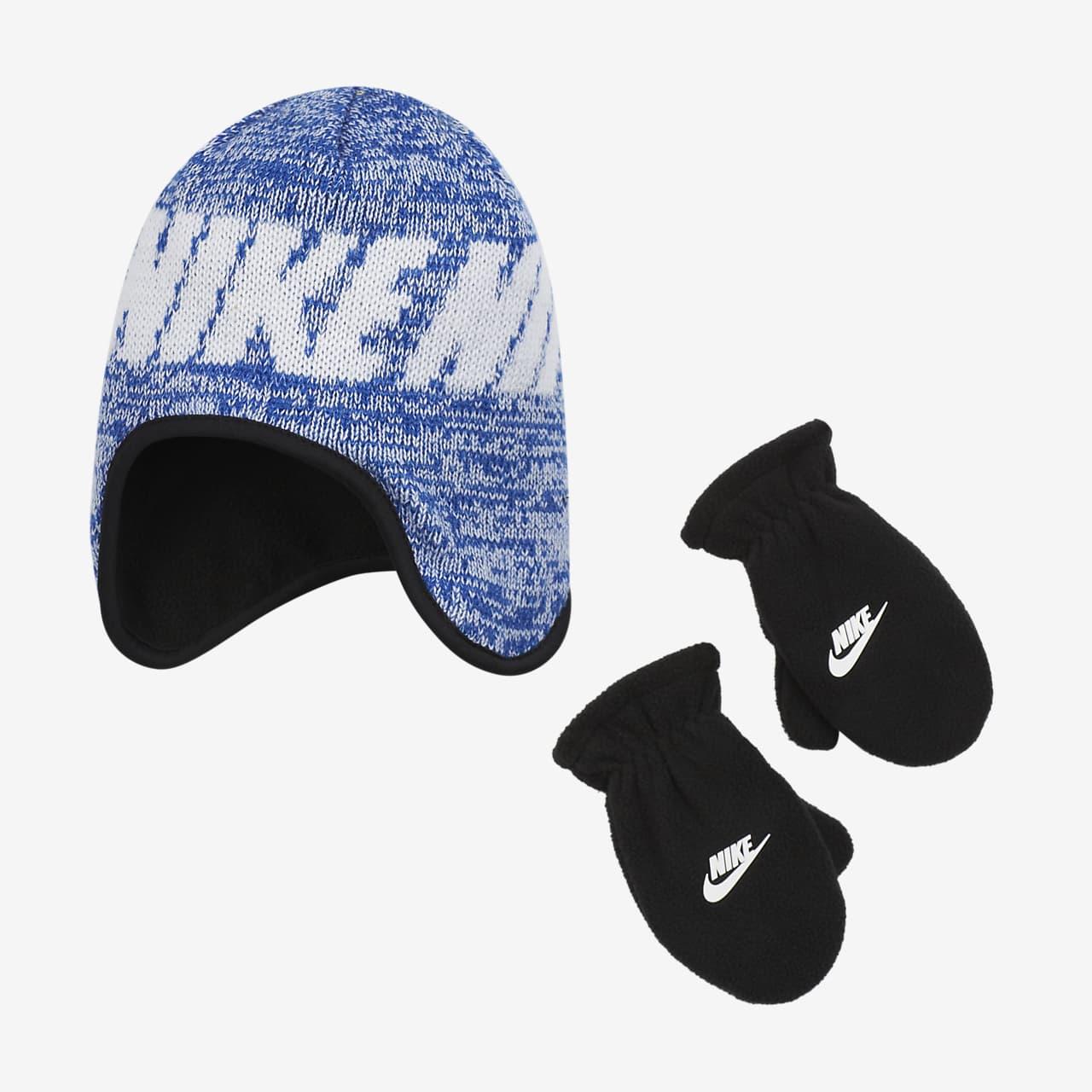 Tvådelat set Nike med mössa och vantar för små barn