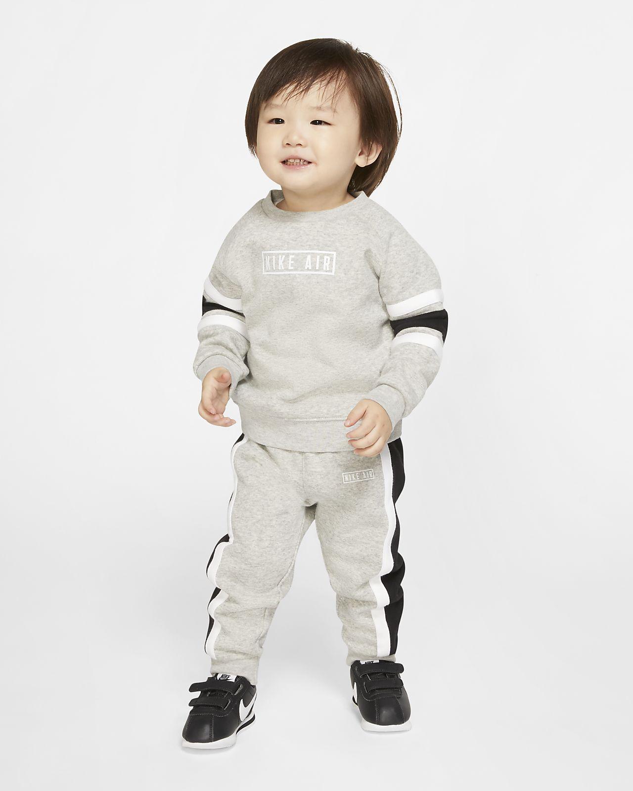 Souprava mikiny s kulatým výstřihem a tepláků Nike Air pro kojence