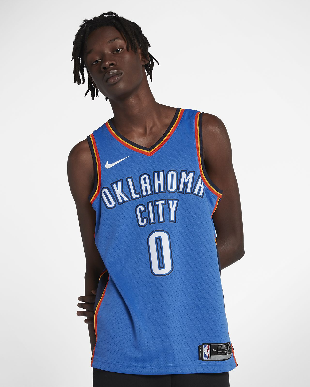 Maillot connecté Nike NBA Russell Westbrook Icon Edition Swingman (Oklahoma City Thunder) pour Homme