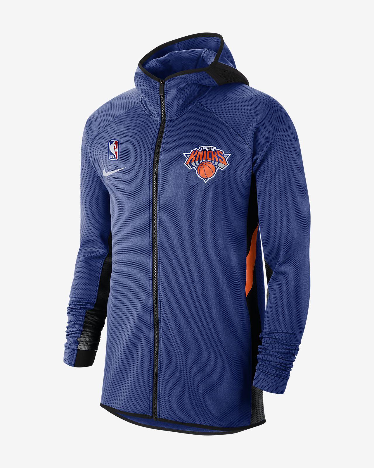 New York Knicks Nike Therma Flex Showtime NBA Erkek Kapüşonlu Üst