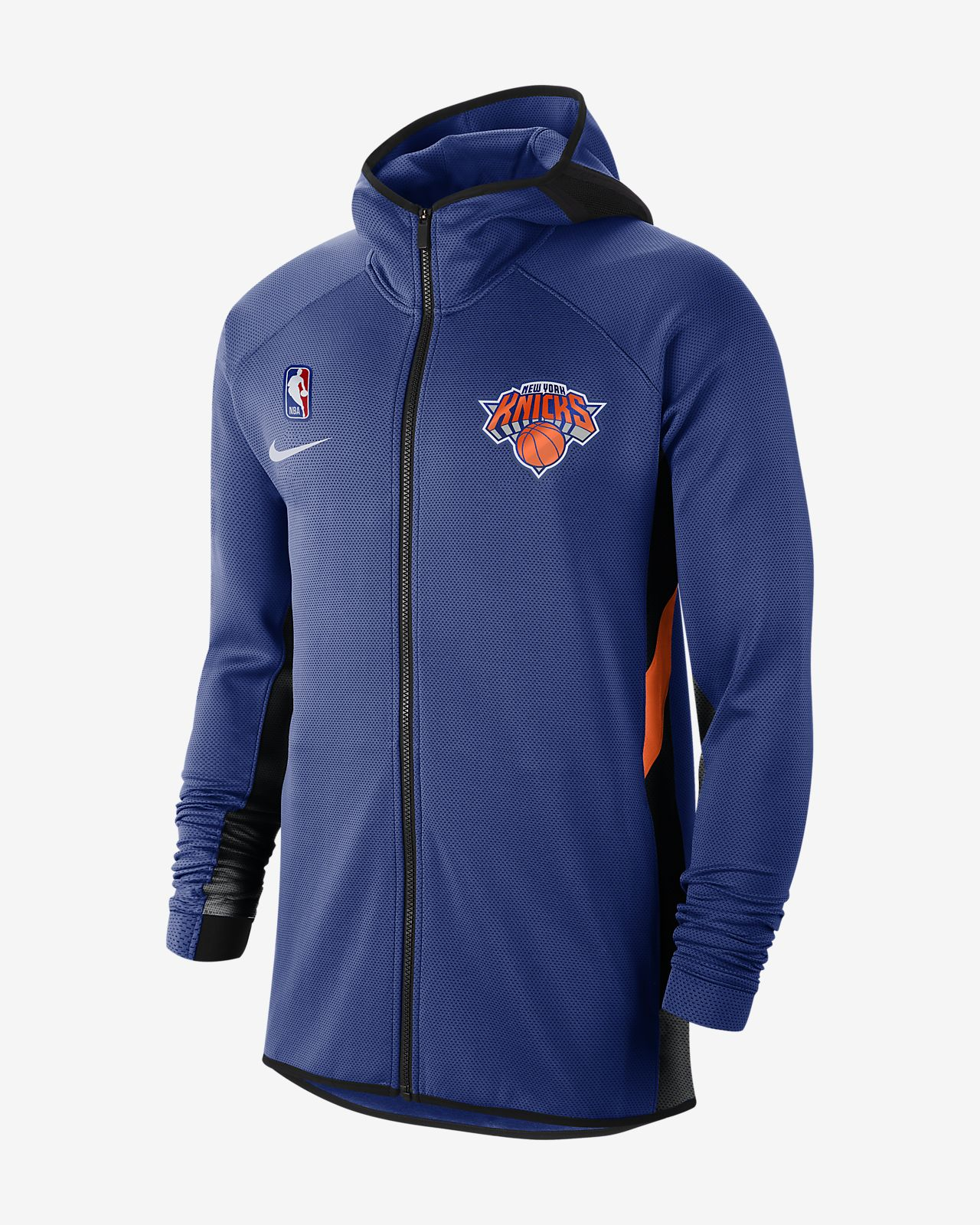 Sweat à capuche NBA New York Knicks Nike Therma Flex Showtime pour Homme