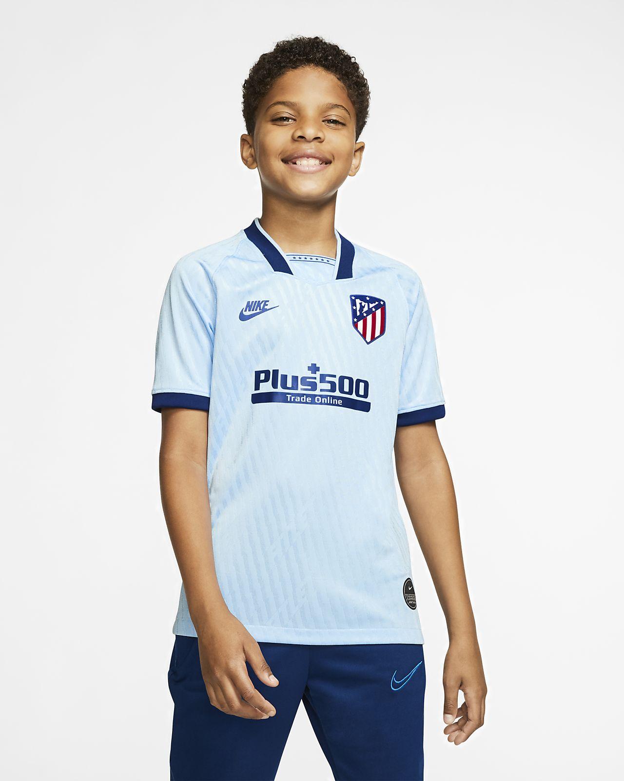 Camiseta de fútbol para niños talla grande Atletico de Madrid alternativa para aficionados, temporada 2019/20