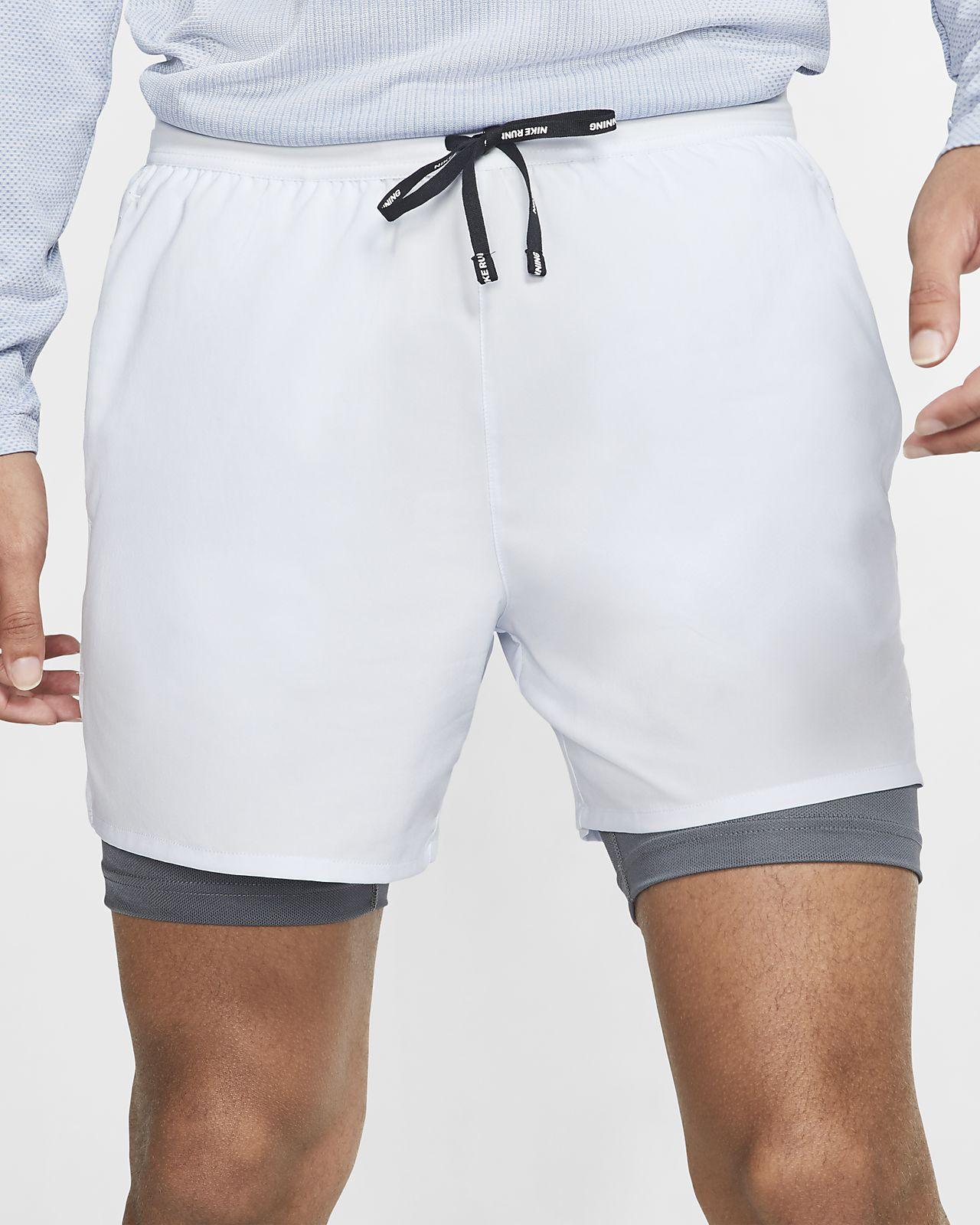 Ανδρικό σορτς για τρέξιμο 2 σε 1 Nike Flex Stride 13 cm