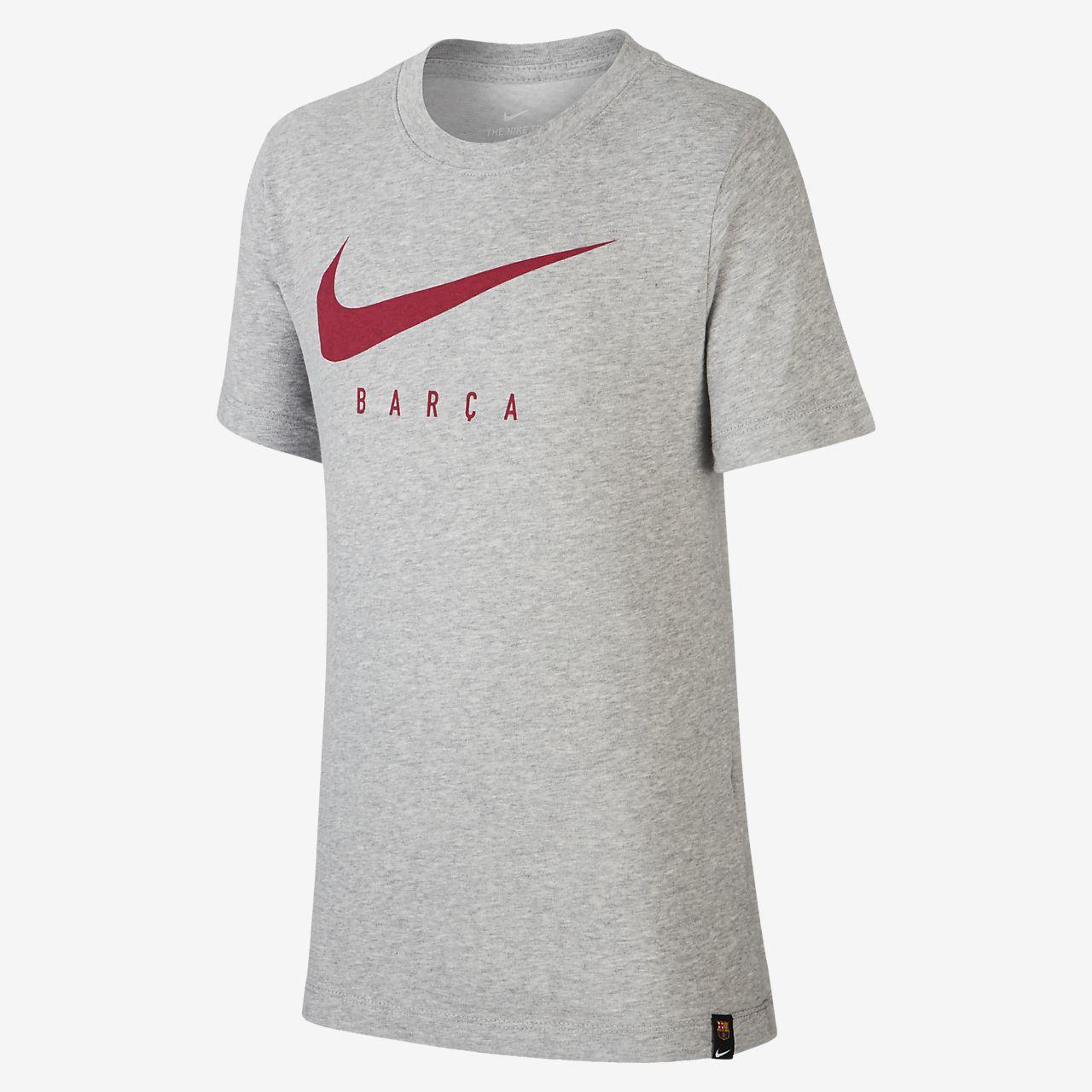Tee-shirt de football Nike Dri-FIT FC Barcelona pour Enfant plus âgé