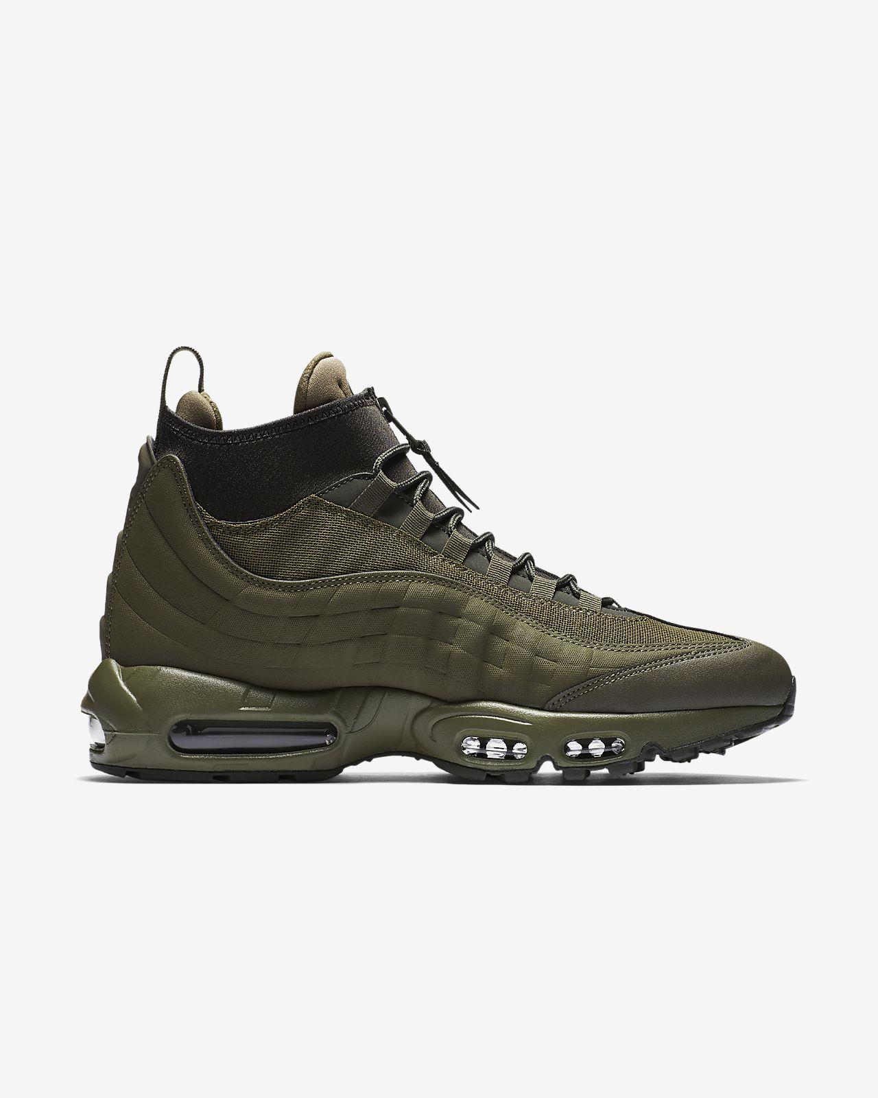e4068f182d10a2 ... coupon code for neueste herren schwarz grün nike air max 95 sneakerboot  olive associate degree. ...