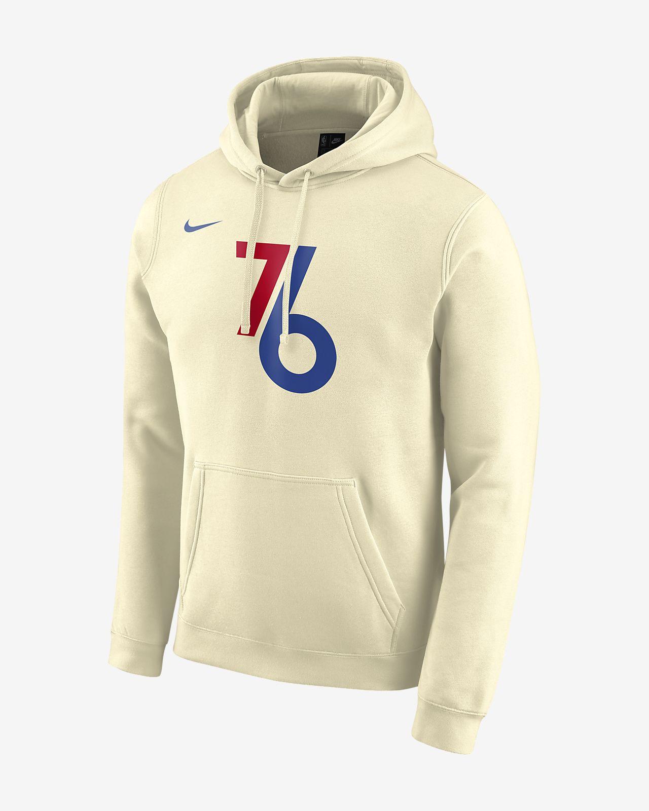 Sweat à capuche Nike NBA 76ers City Edition Logo pour Homme