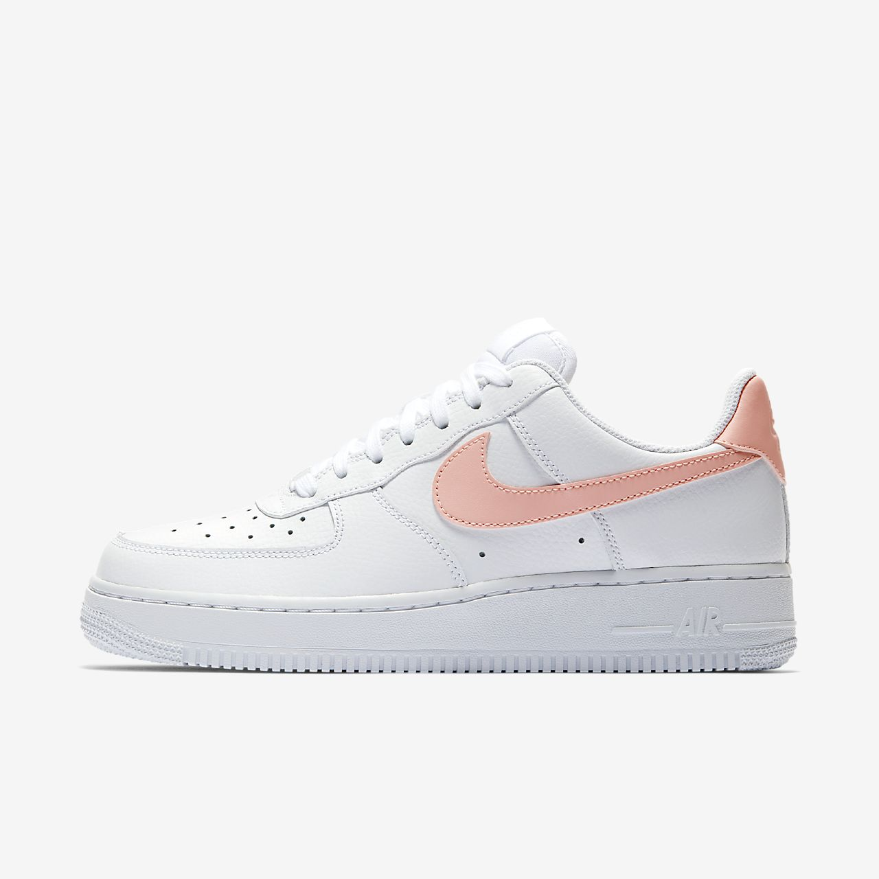 scarpa nike air force 1 '07 patent biancobiancooracle pink