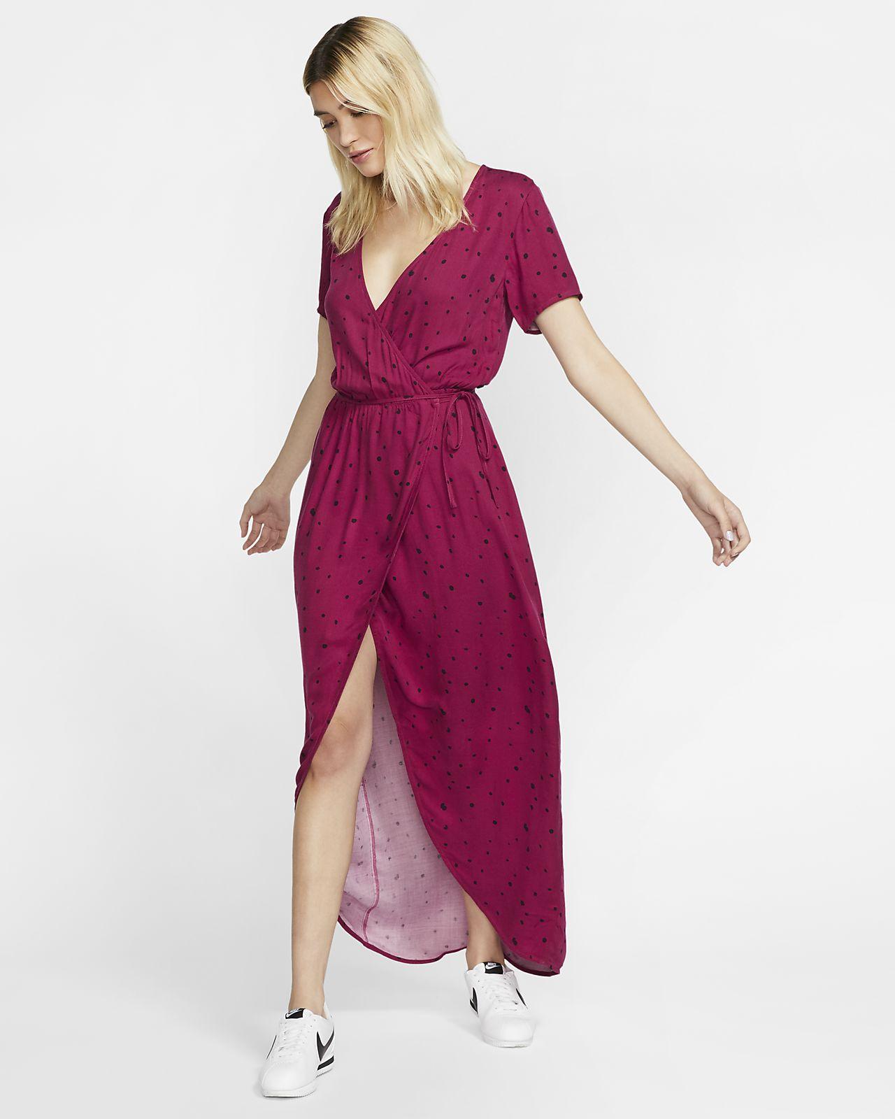 Hurley Dot Party Wrap Women's Dress