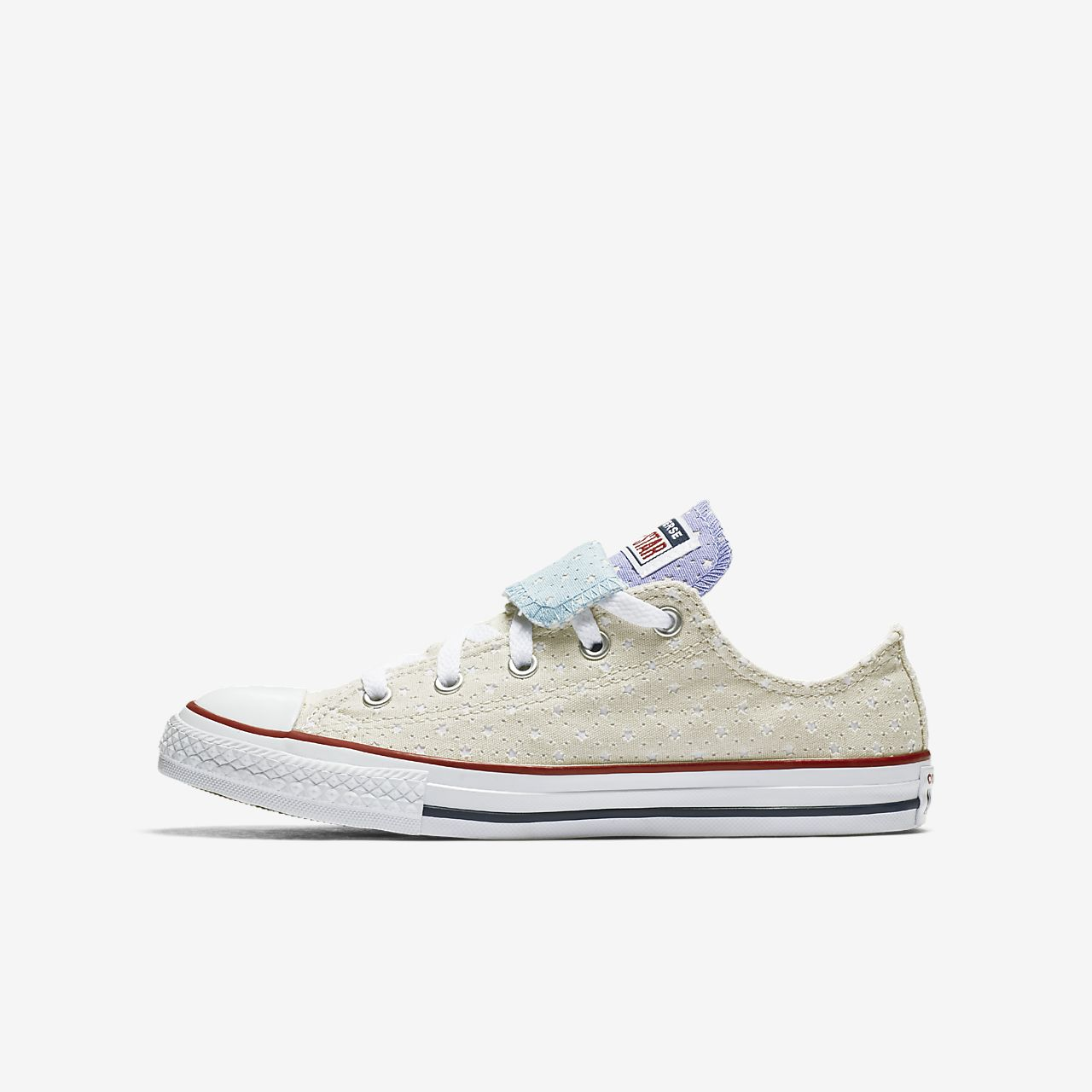 01fb95ad038d ... cheapest converse chuck taylor all star perforated star double tongue  low top little big kids 69e06 ...