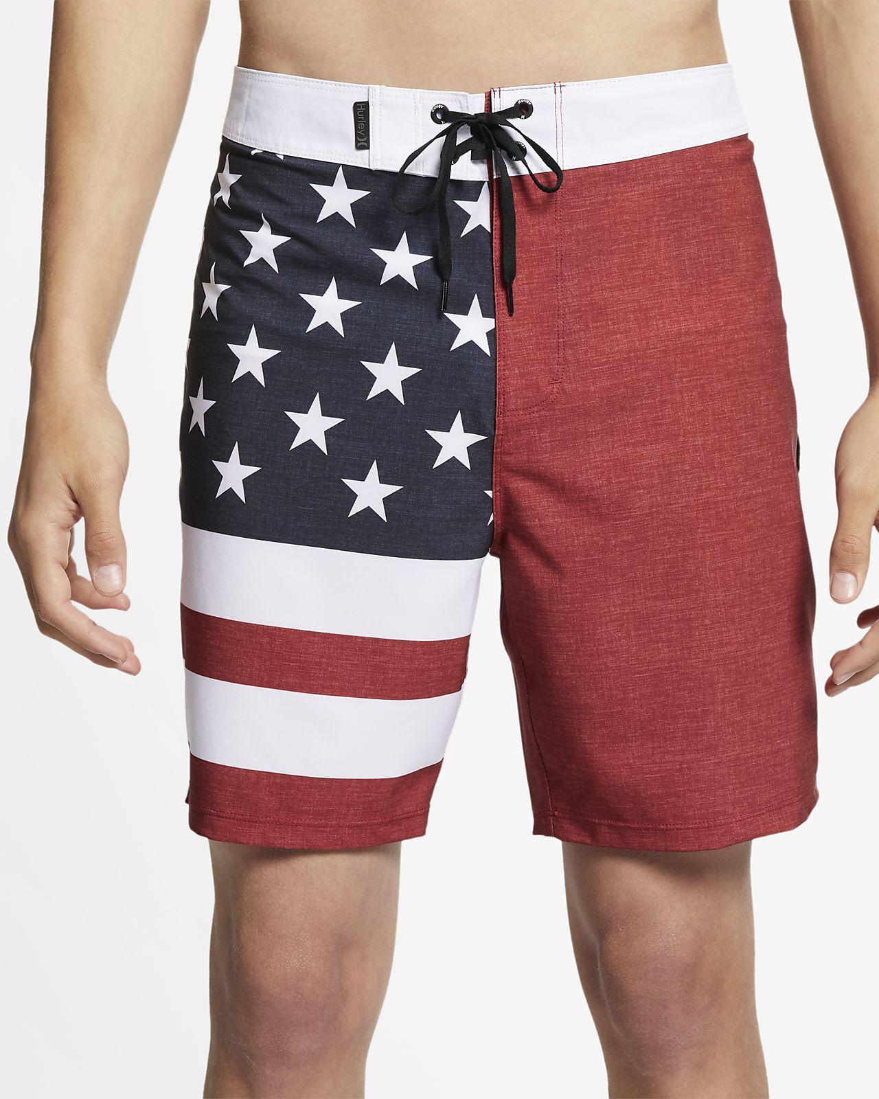 """Hurley Phantom Patriot  Men's 18"""" Board Shorts"""