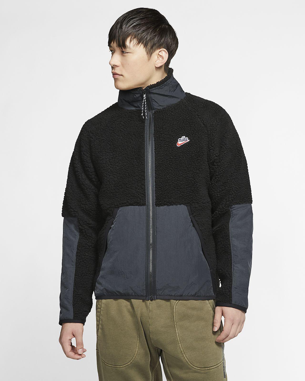 Casaco de lã cardada de Sherpa Nike Sportswear para homem