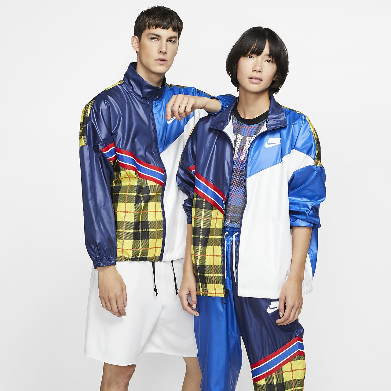 Giacca a quadri in tessuto woven Nike Sportswear NSW - Donna