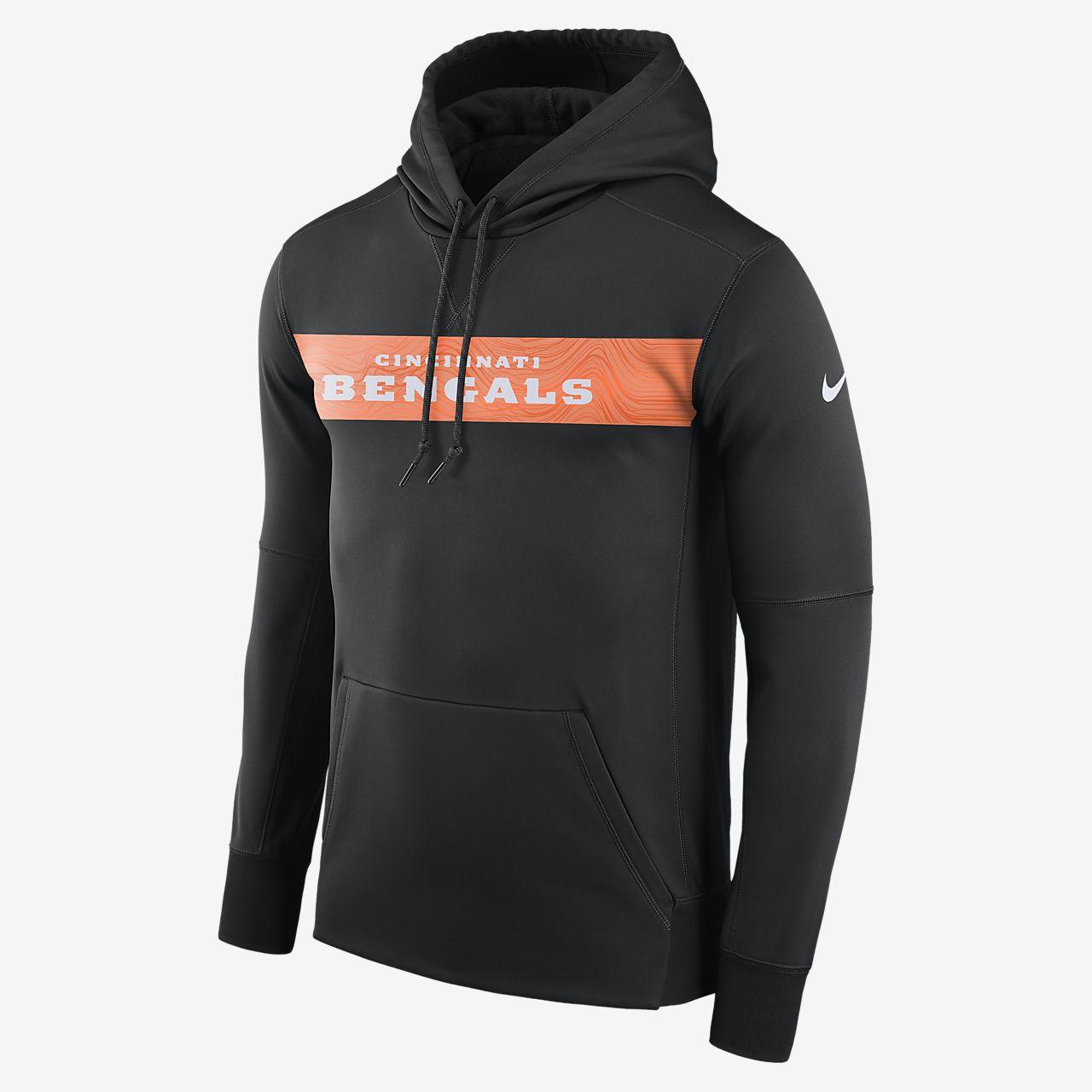 Nike Dri-FIT Therma (NFL Bengals) Men s Pullover Hoodie. Nike.com 70ac032b3015