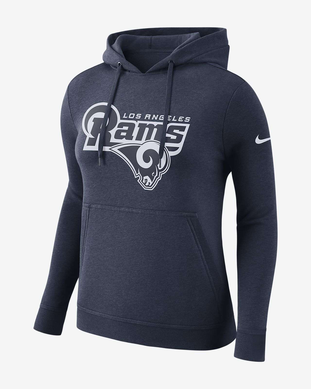 super popular a991e 7293f Nike Club Fleece (NFL Rams) Women's Fleece Pullover Hoodie