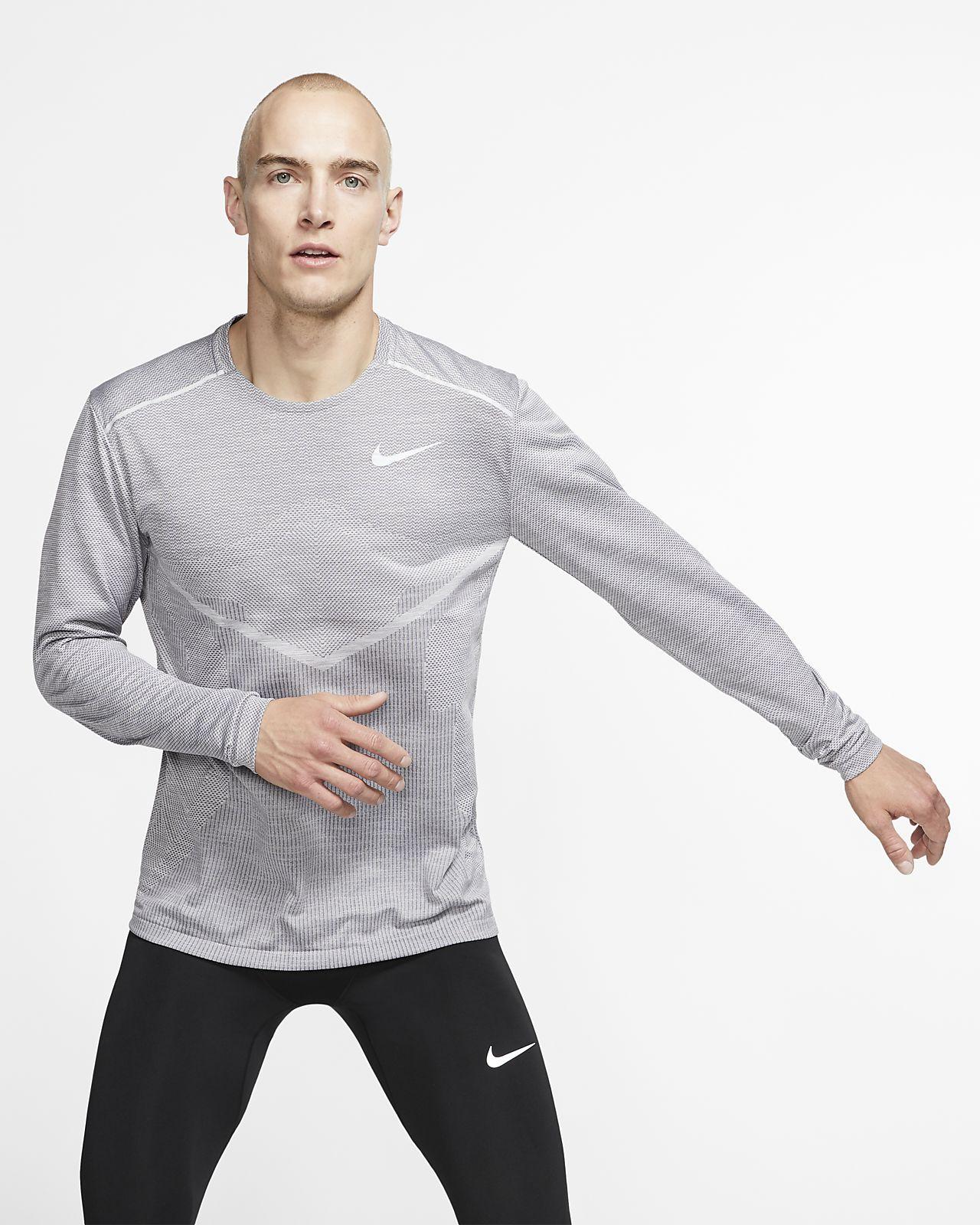Camisola de running de manga comprida Nike TechKnit Ultra para homem
