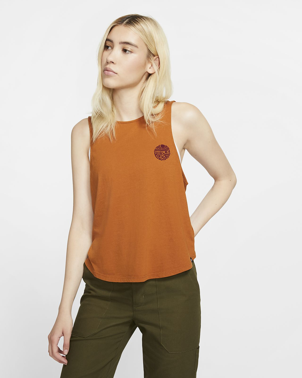 Damska koszulka bez rękawów Hurley Escaper Flouncy