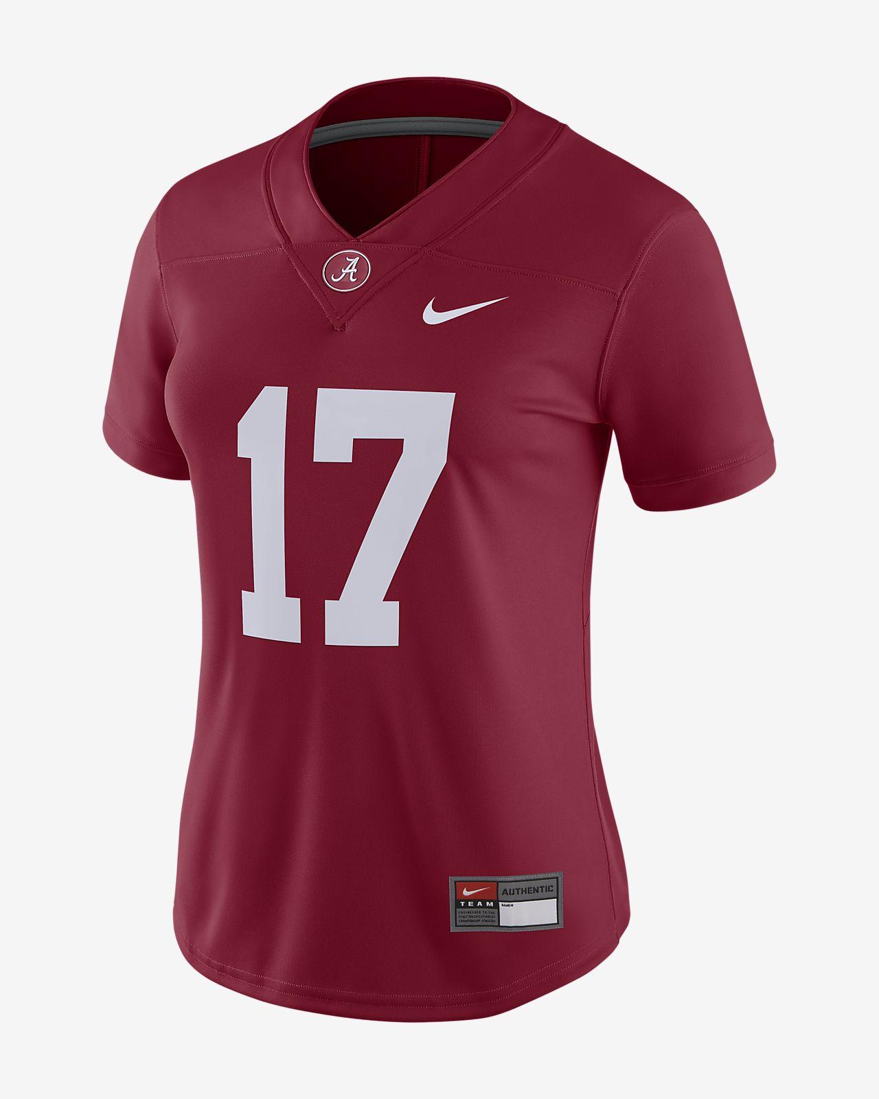 new product 64e8d 0e937 Nike College Dri-FIT Game (Alabama) Women's Football Jersey