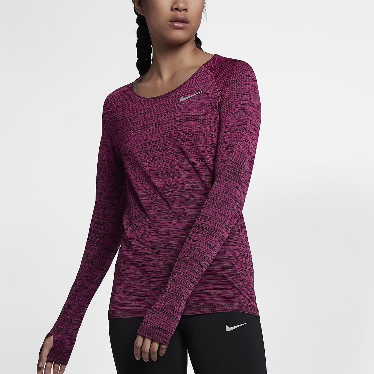 Nike Dri-FIT Knit 女子长袖跑步上衣