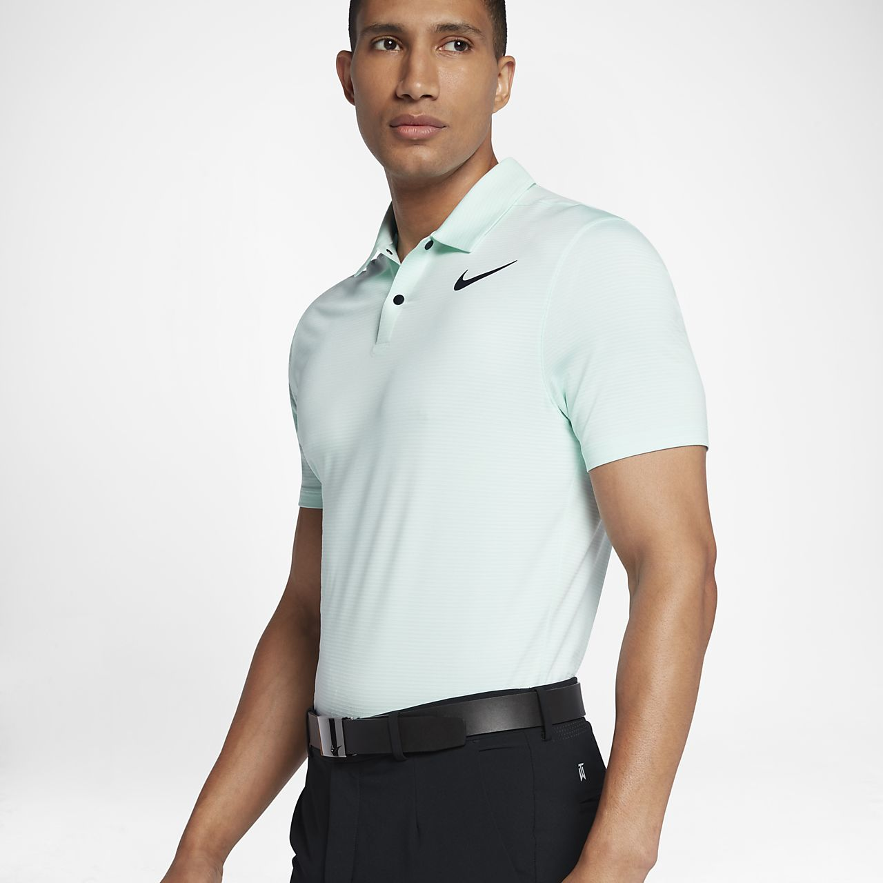 ... TW Dry Blur Stripe Men's Standard Fit Golf Polo