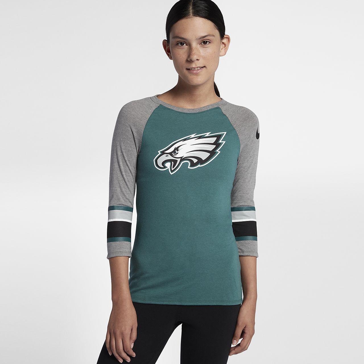 Nike raglan nfl eagles women 39 s t shirt for Eagles t shirt womens