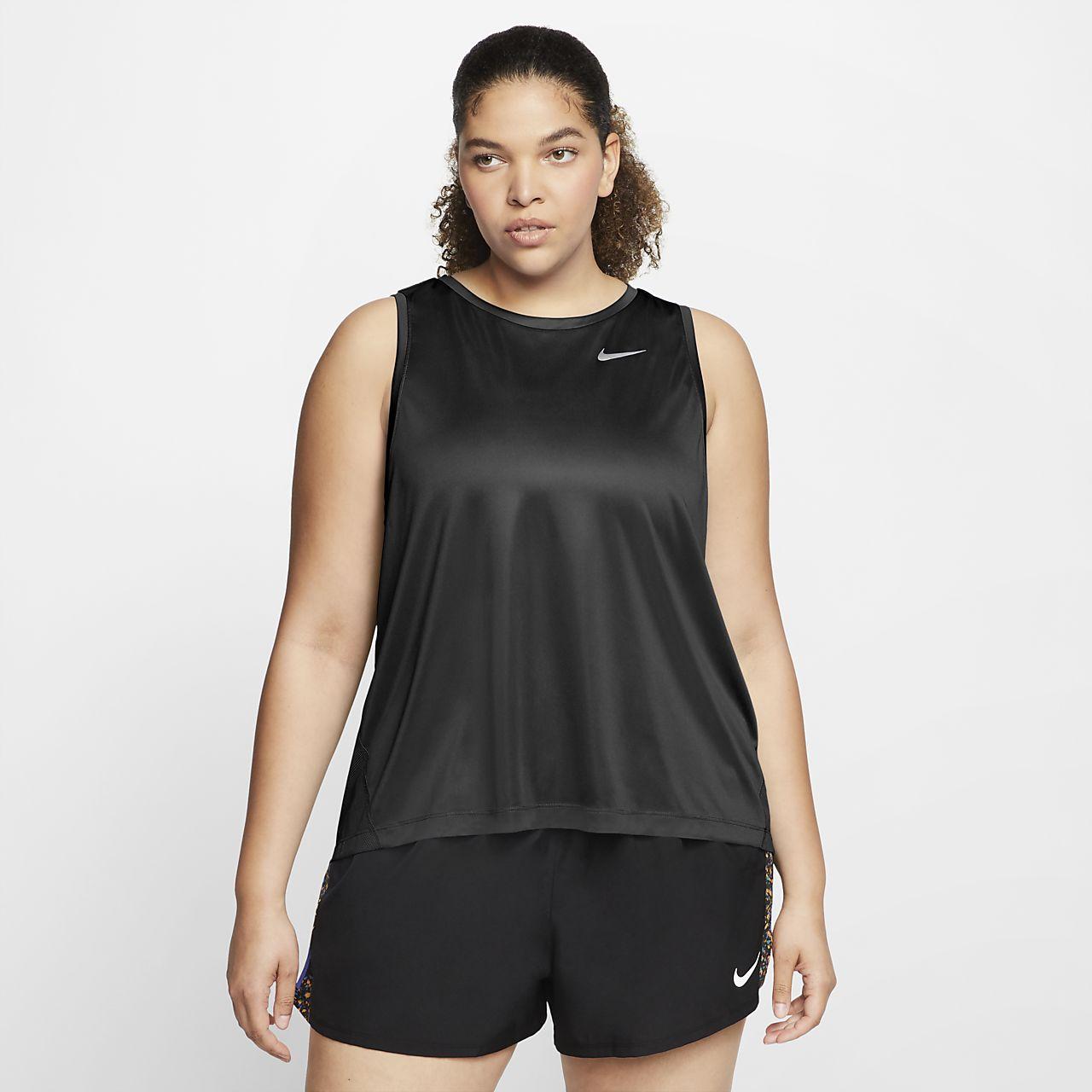 détaillant en ligne c00f1 4664b Débardeur de running Nike Miler pour Femme (grande taille)