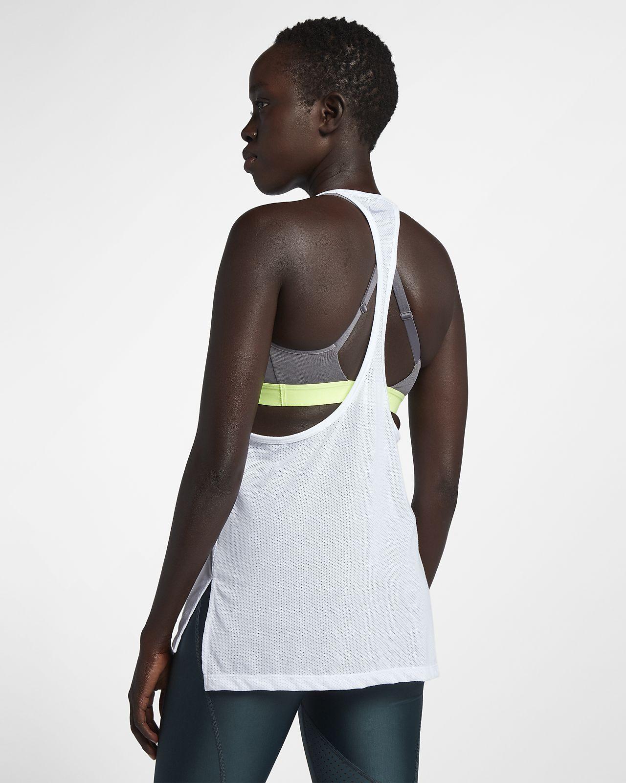 detailed look 95ff6 13a83 Nike Tailwind-løbetanktop til kvinder