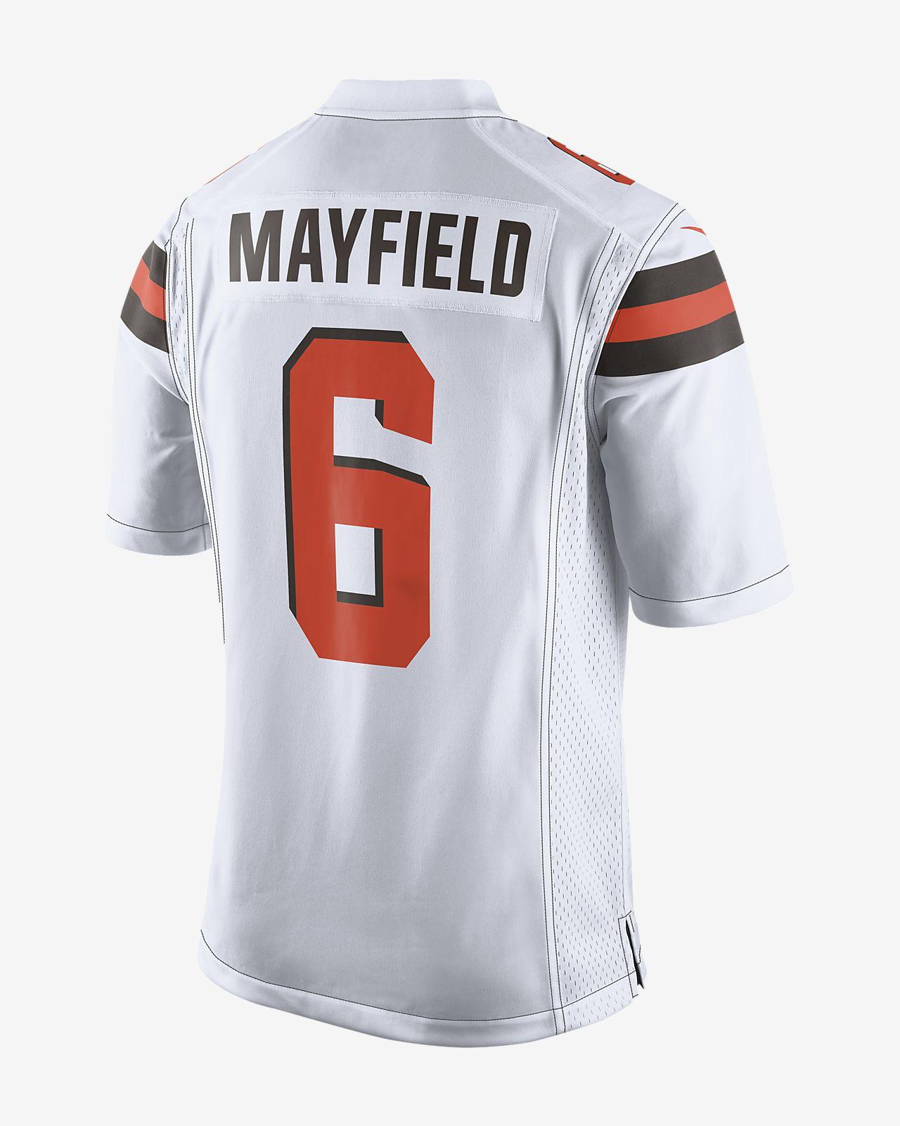 4689918d1 NFL Cleveland Browns (Baker Mayfield) Men s Game Football Jersey ...